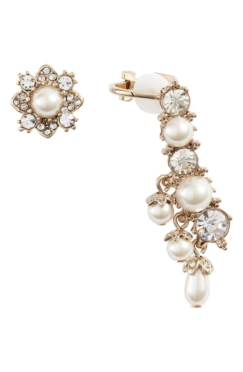 Marchesa EAR CRAWLER & STUD MISMATCHED EARRINGS