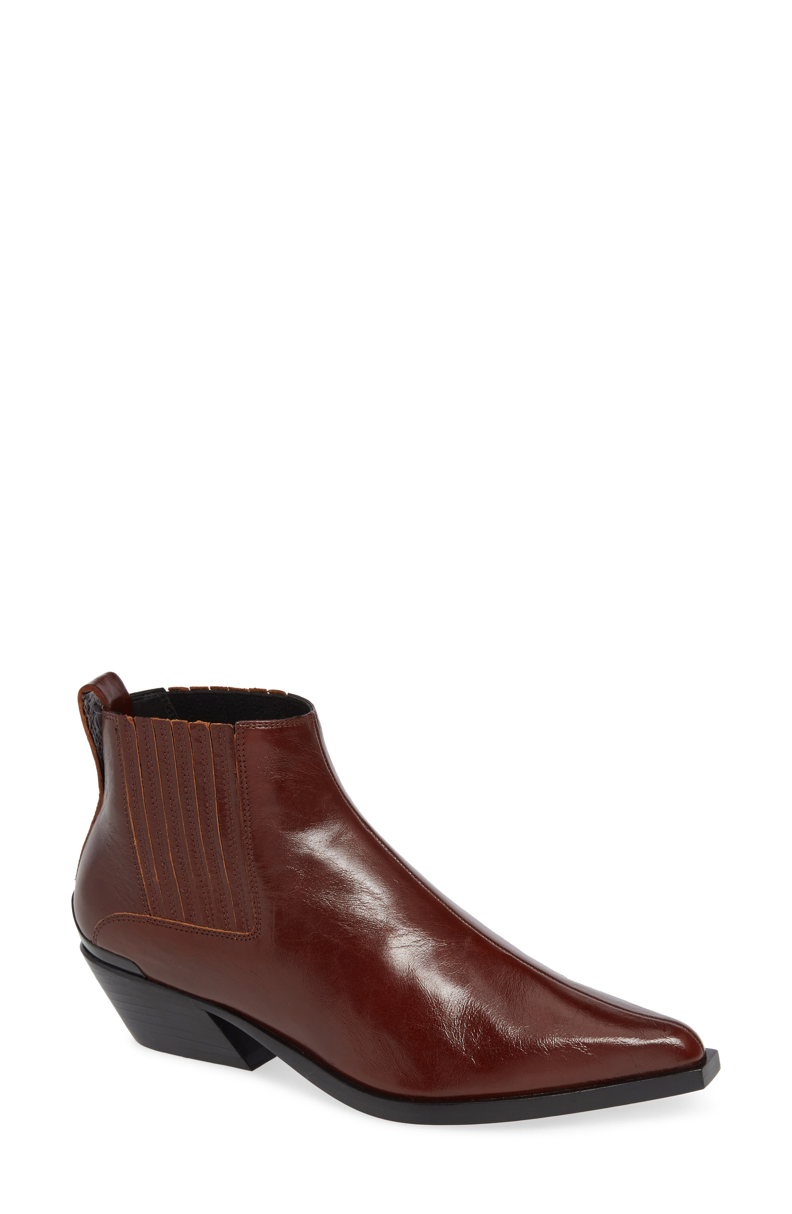 Rag And Bone Brown Leather Westin Boots in Mahogany