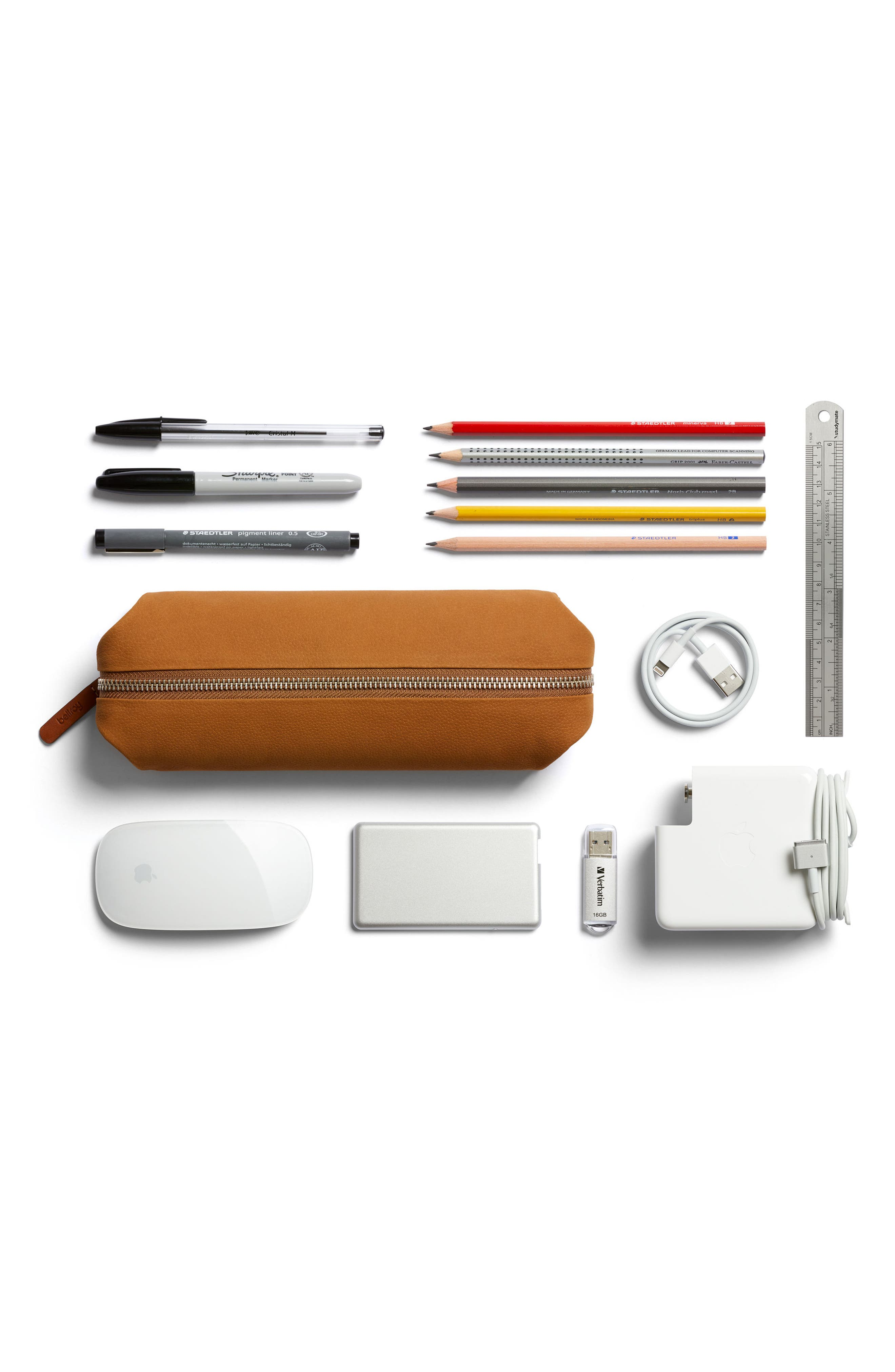 Leather Pencil Case Plus,                             Alternate thumbnail 6, color,                             020
