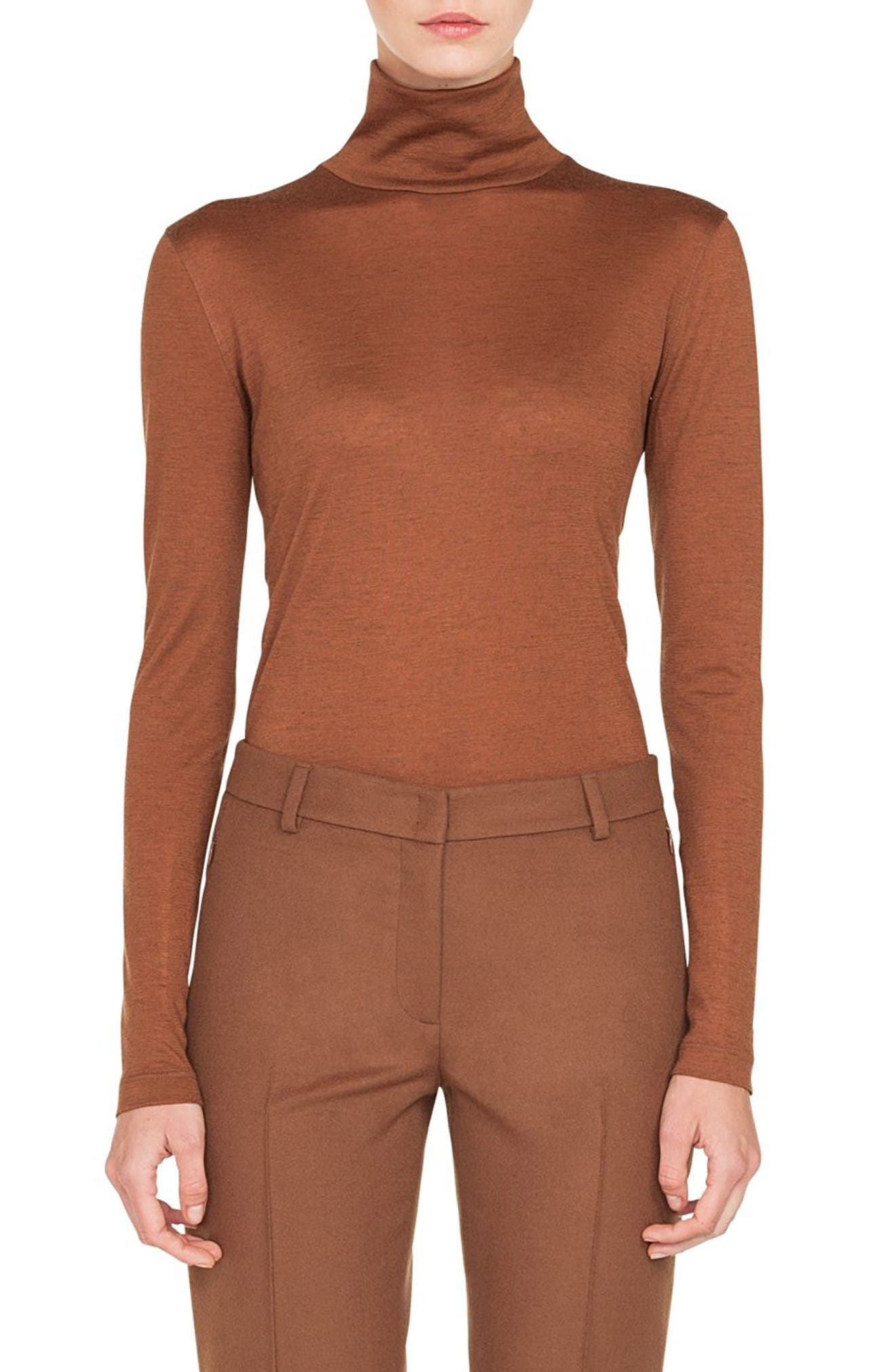 Cashmere & Silk Mock Neck Sweater, Main, color, 200