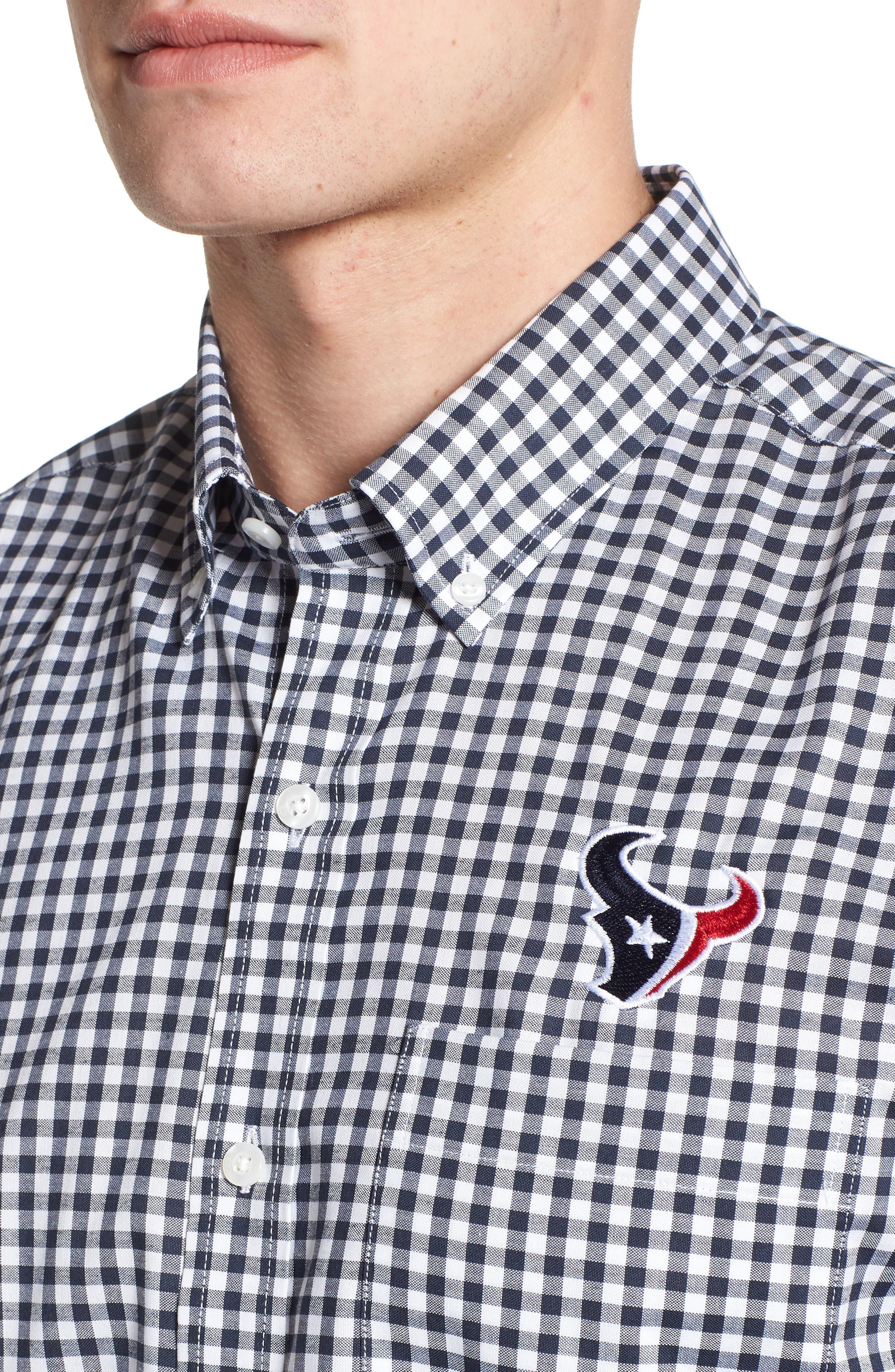 League Houston Texans Regular Fit Shirt,                             Alternate thumbnail 4, color,                             LIBERTY NAVY