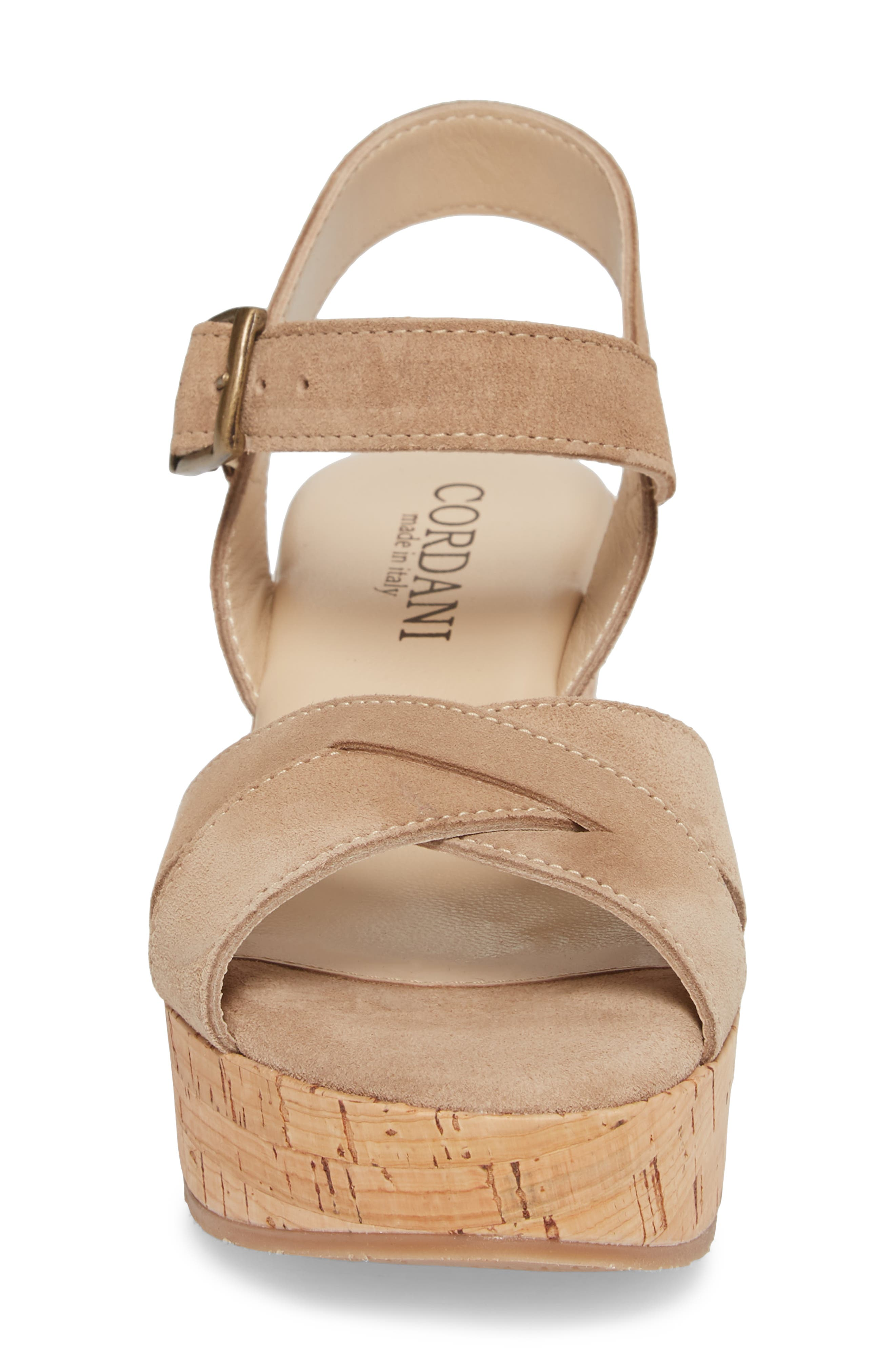 Candy Wedge Sandal,                             Alternate thumbnail 4, color,                             CORDA SUEDE
