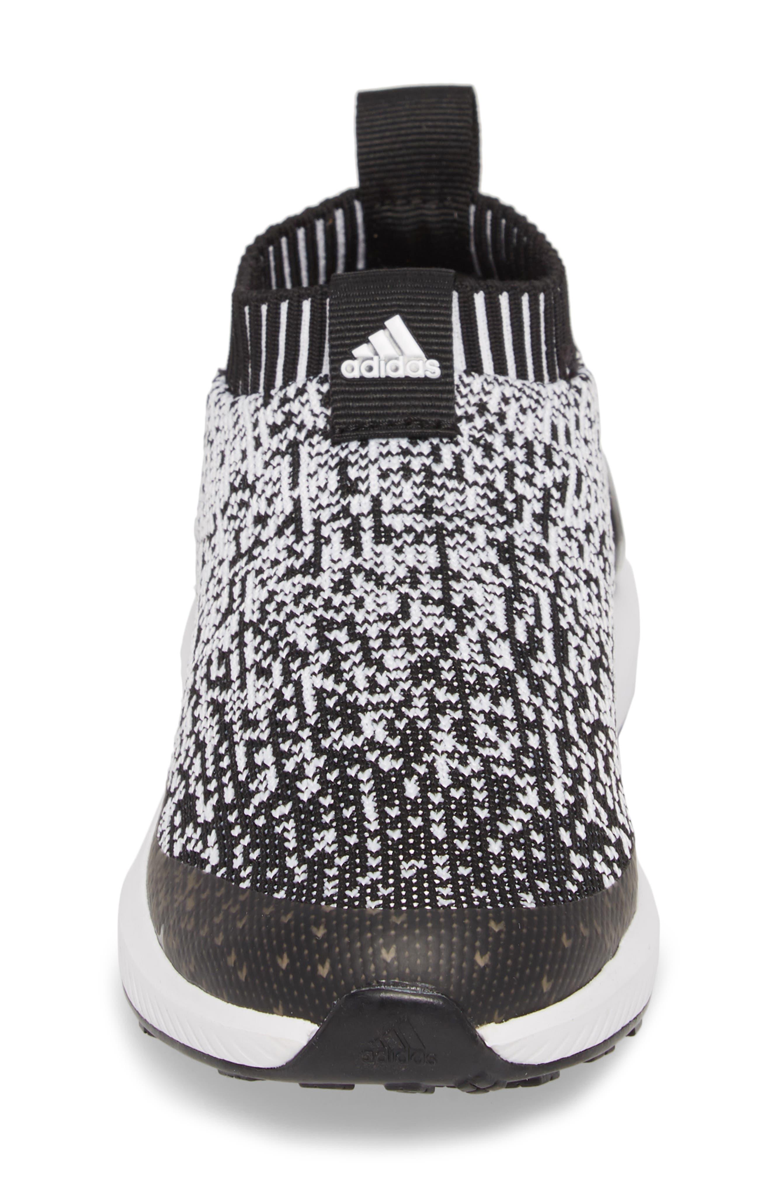 RapidaRun Laceless Knit Sneaker,                             Alternate thumbnail 4, color,                             001