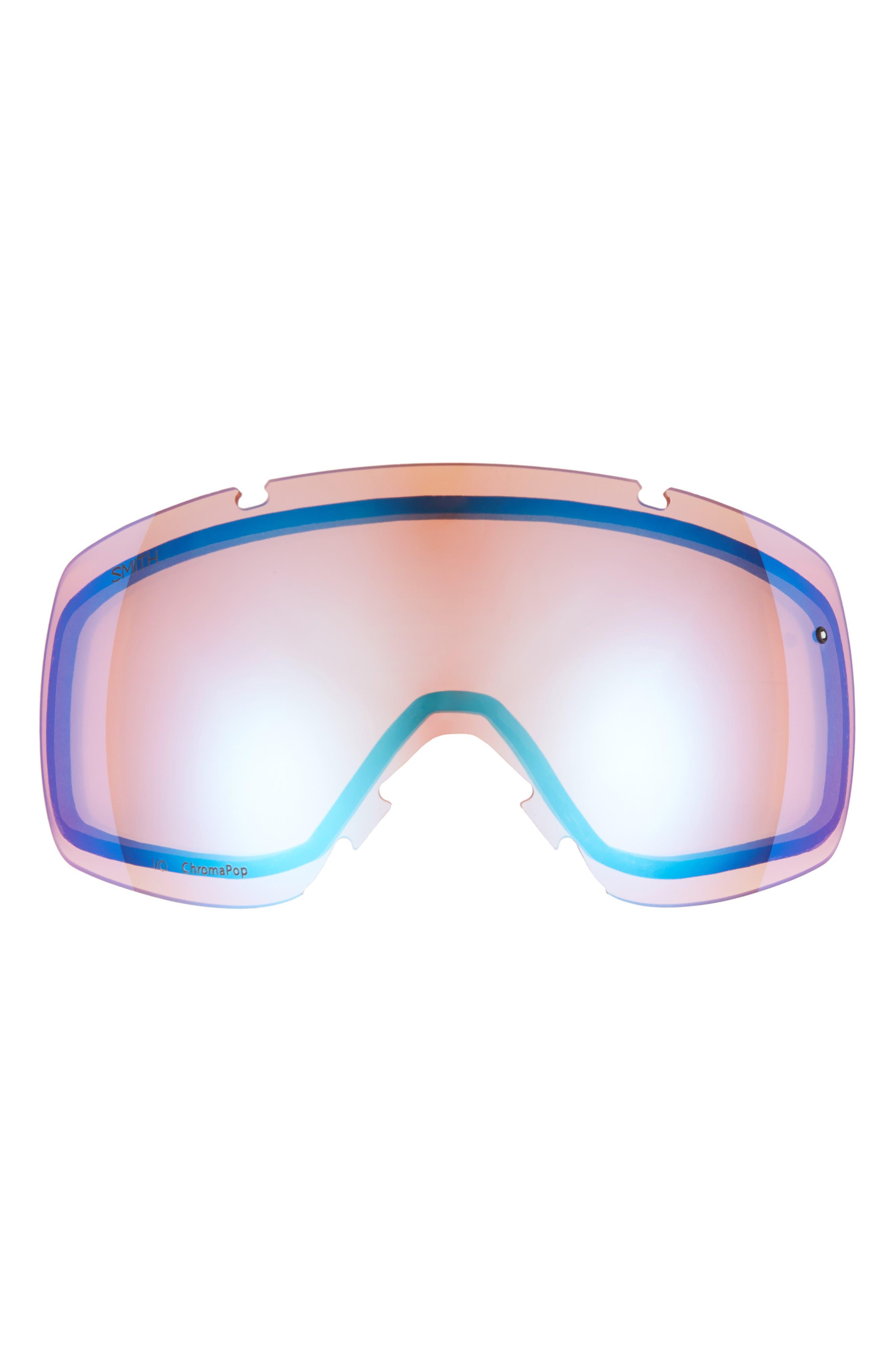 I/O 185mm Snow/Ski Goggles,                             Alternate thumbnail 4, color,                             BLACKOUT/ MIRROR