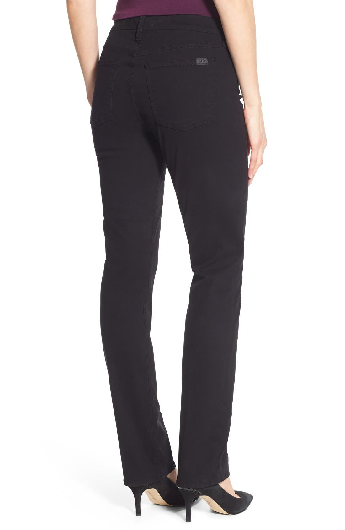 Stretch Sateen Slim Straight Leg Pants,                             Alternate thumbnail 2, color,                             004
