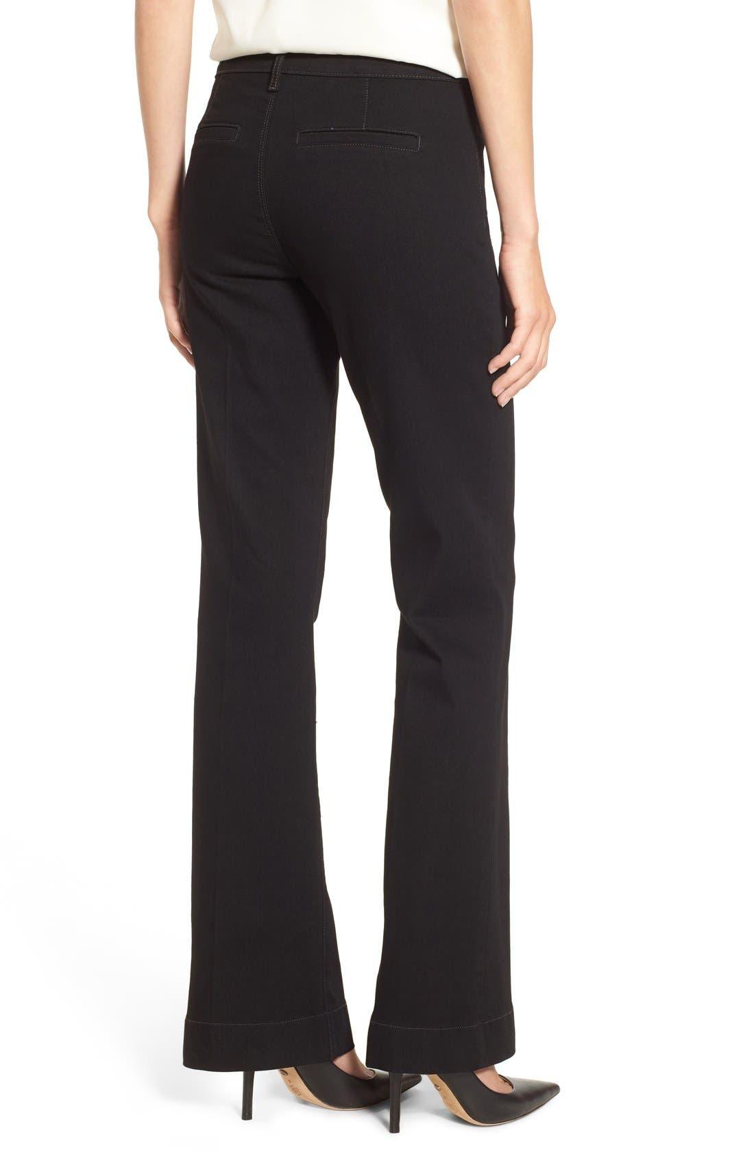 'Teresa' Wide Leg Trouser Jeans,                             Alternate thumbnail 3, color,                             007