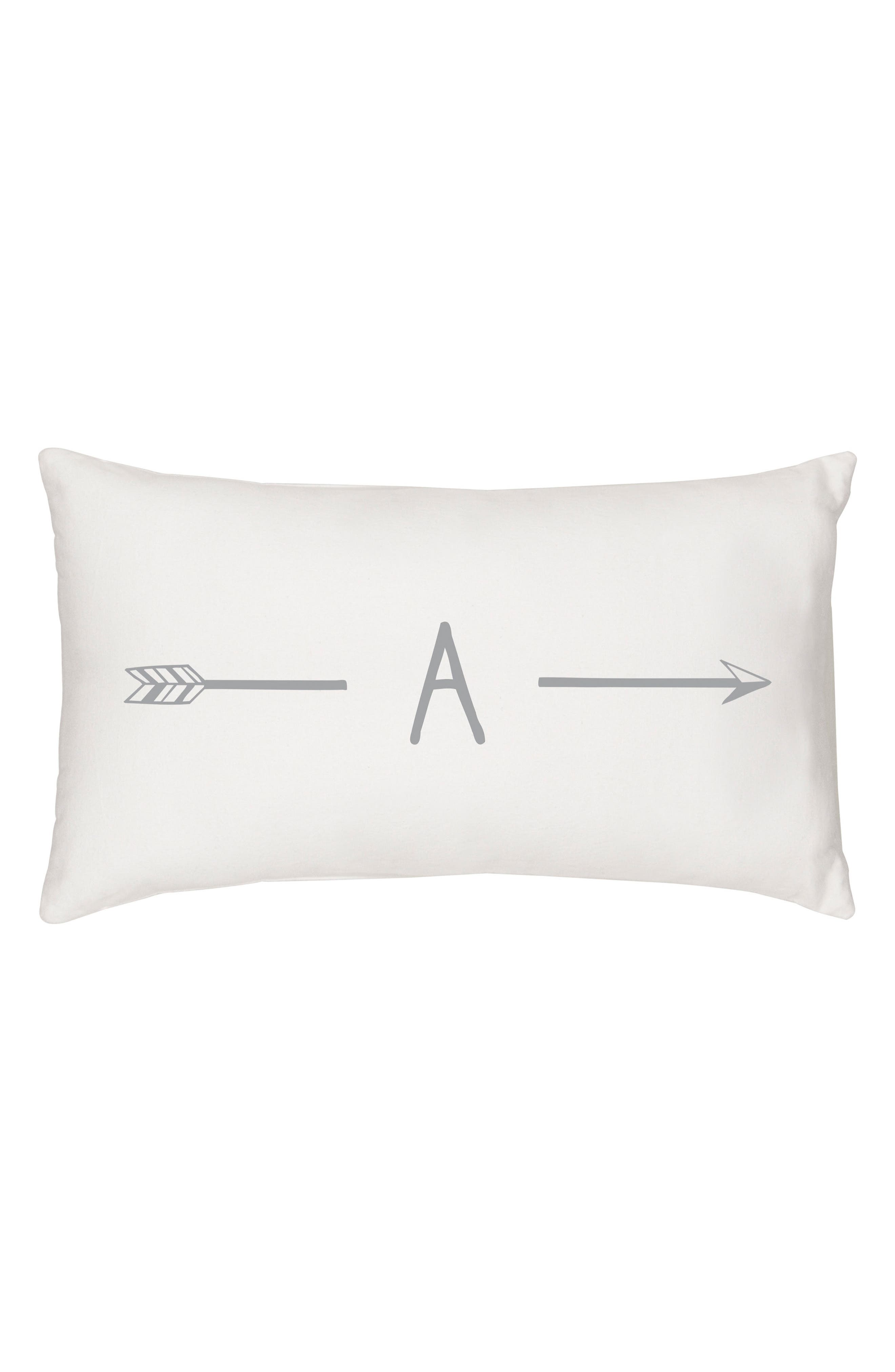 Monogram Lumbar Accent Pillow,                         Main,                         color, 020