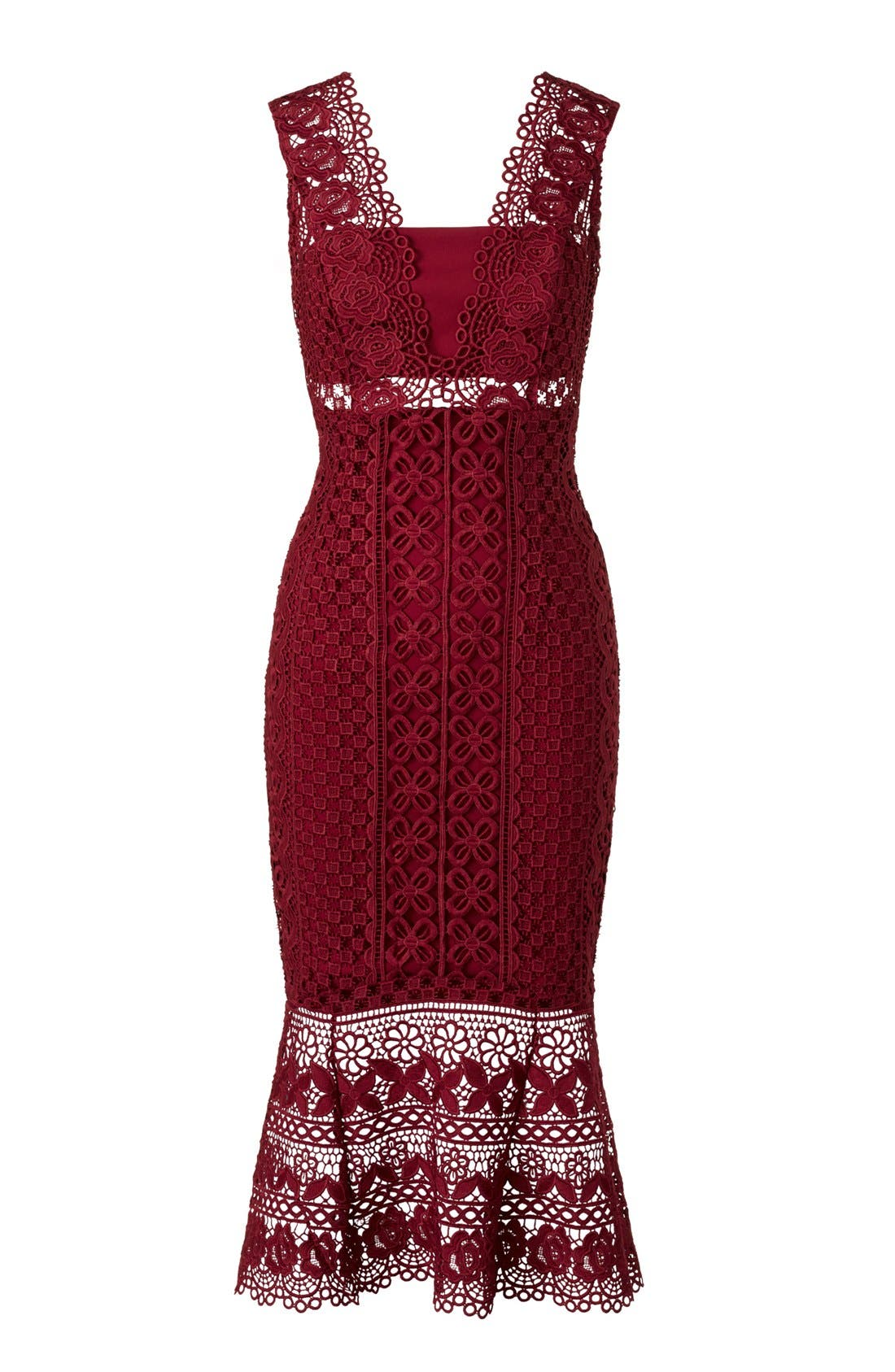 Odyssey Lace Midi Dress,                             Alternate thumbnail 6, color,                             110