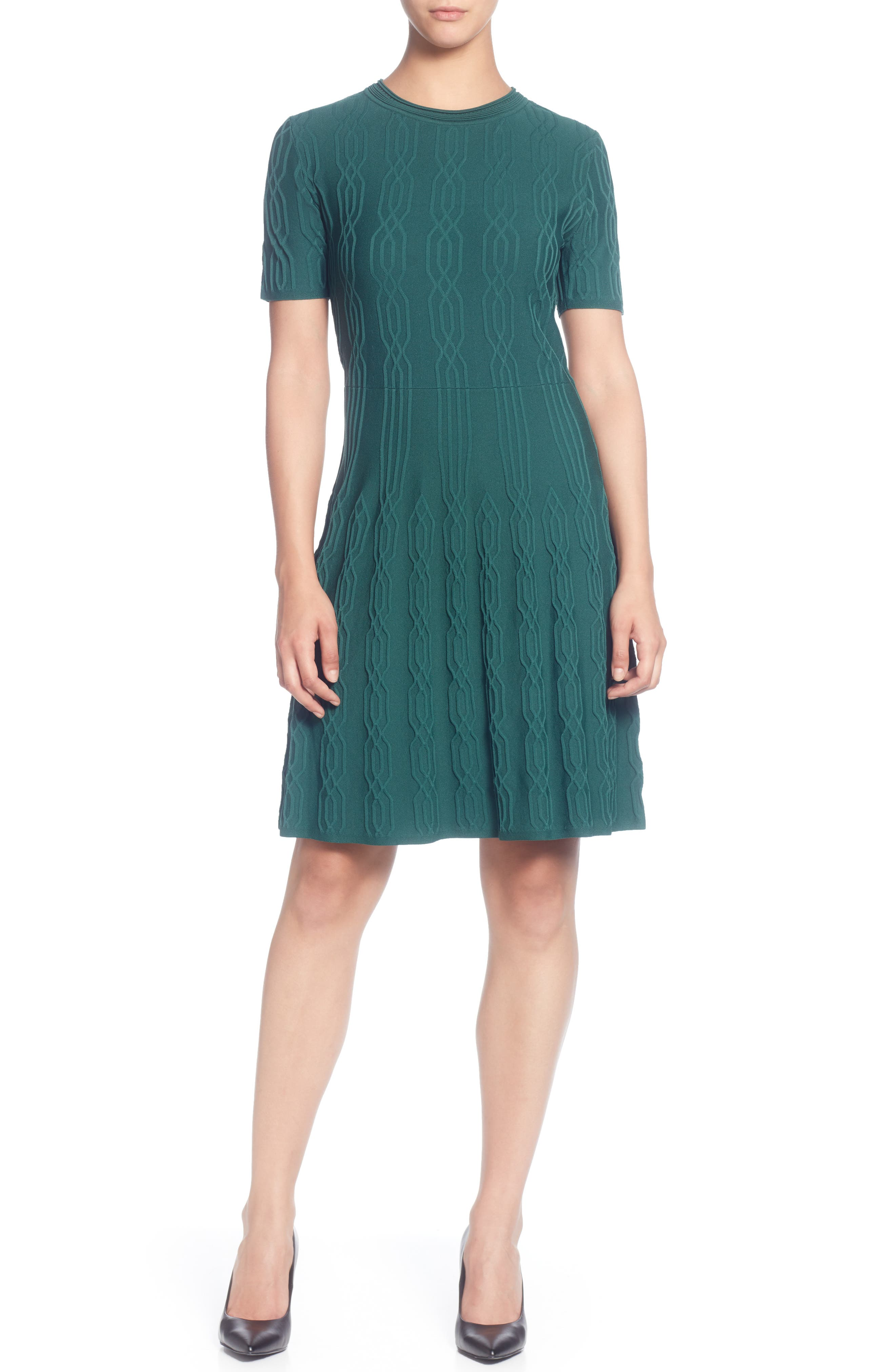 CATHERINE CATHERINE MALANDRINO Jacquard Sweater Dress, Main, color, JUNE BUG