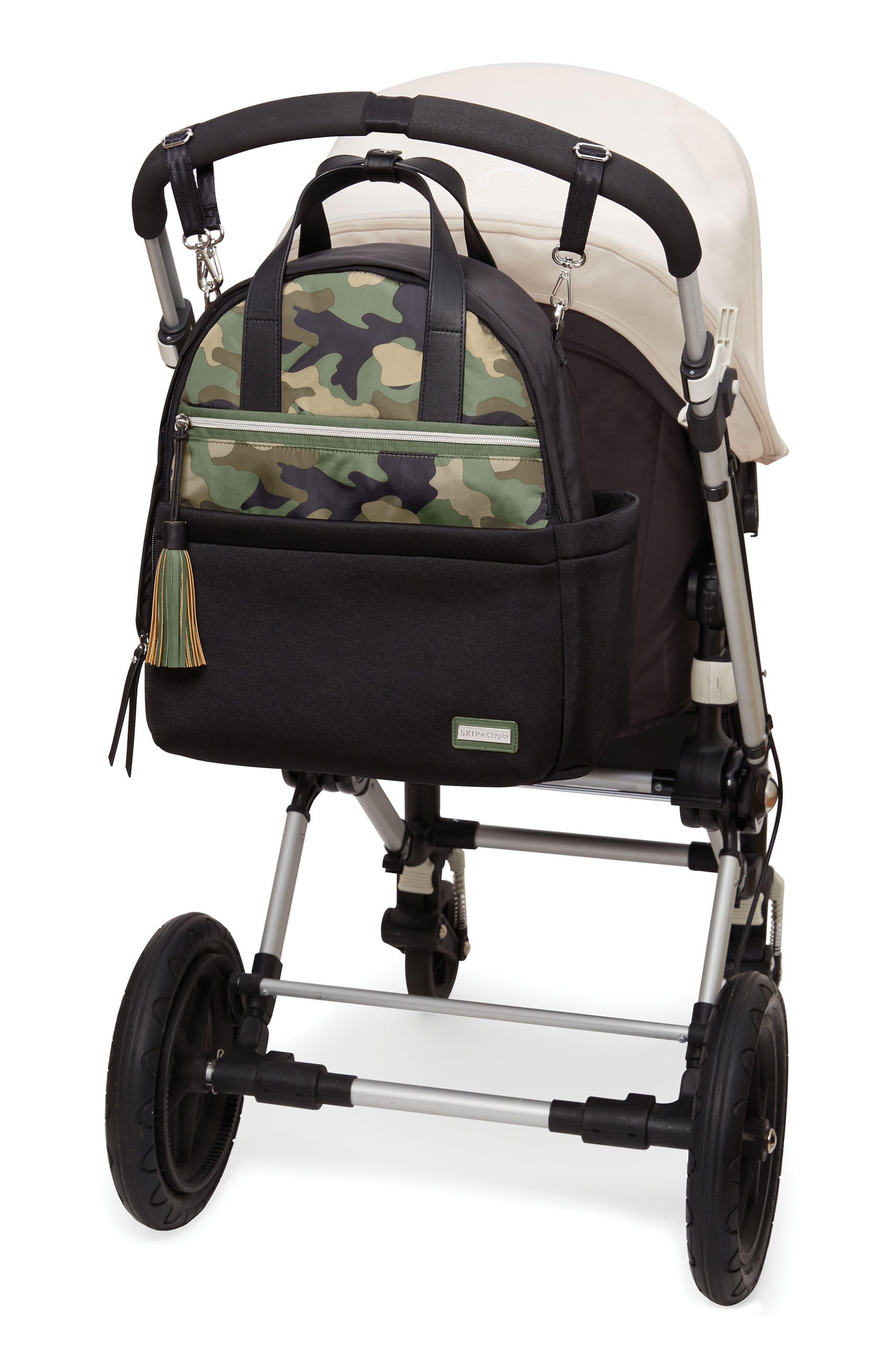 Nolita Neoprene Diaper Backpack,                             Alternate thumbnail 5, color,                             BLACK/ DARK CAMO