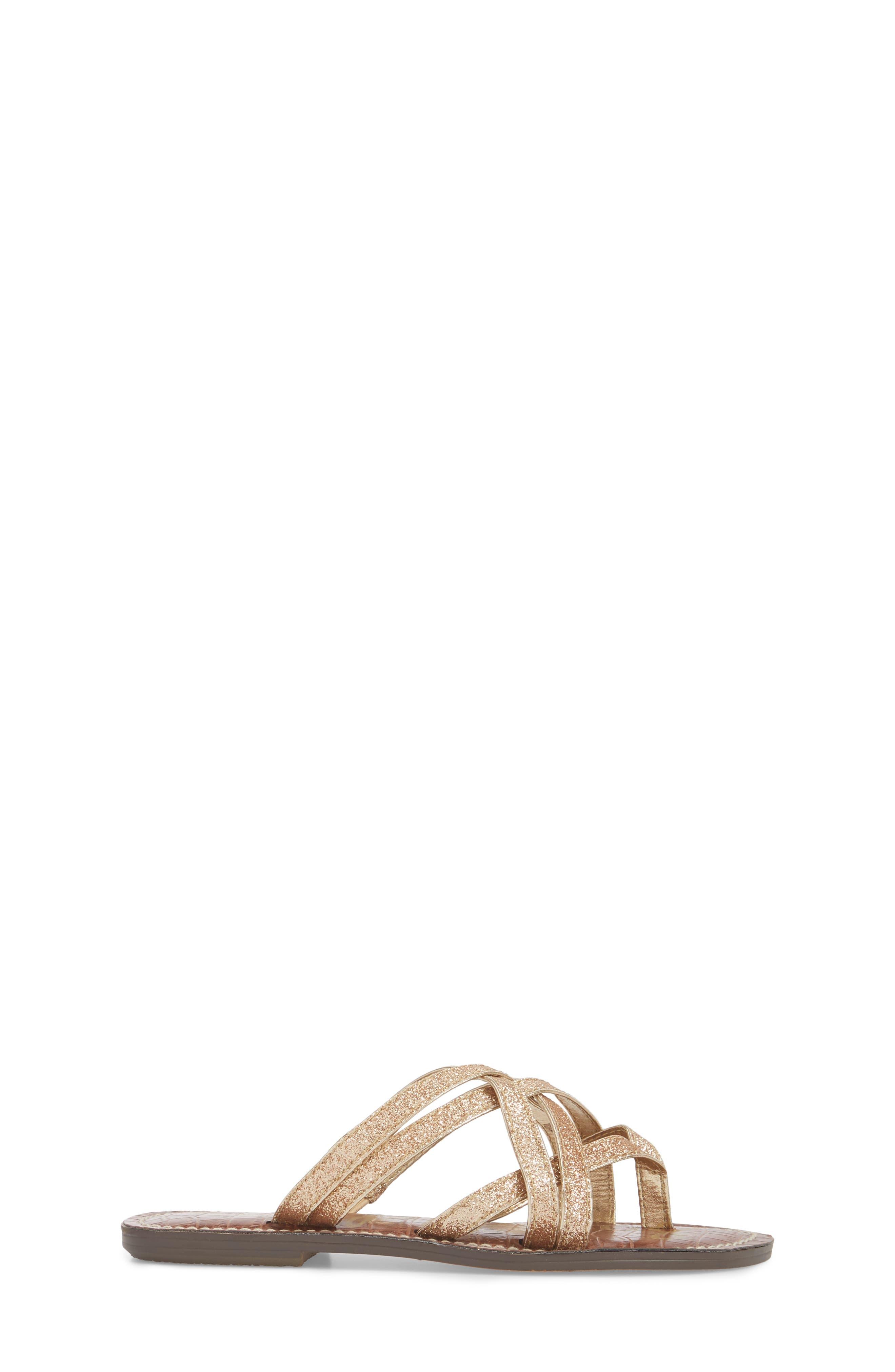 Georgette Glitter Flat Sandal,                             Alternate thumbnail 9, color,