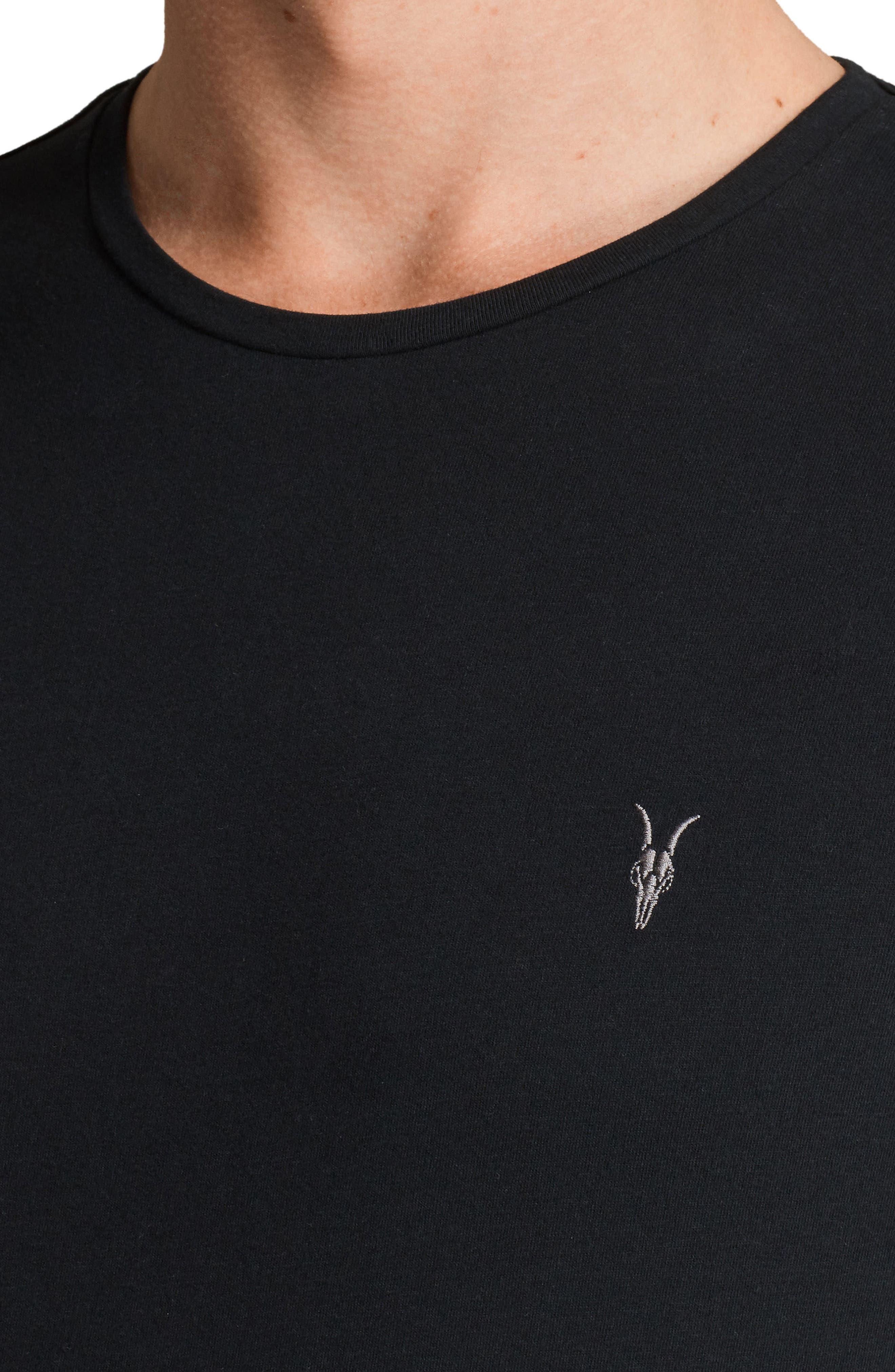 Brace Tonic Slim Fit Crewneck T-Shirt,                             Alternate thumbnail 4, color,                             JET BLACK