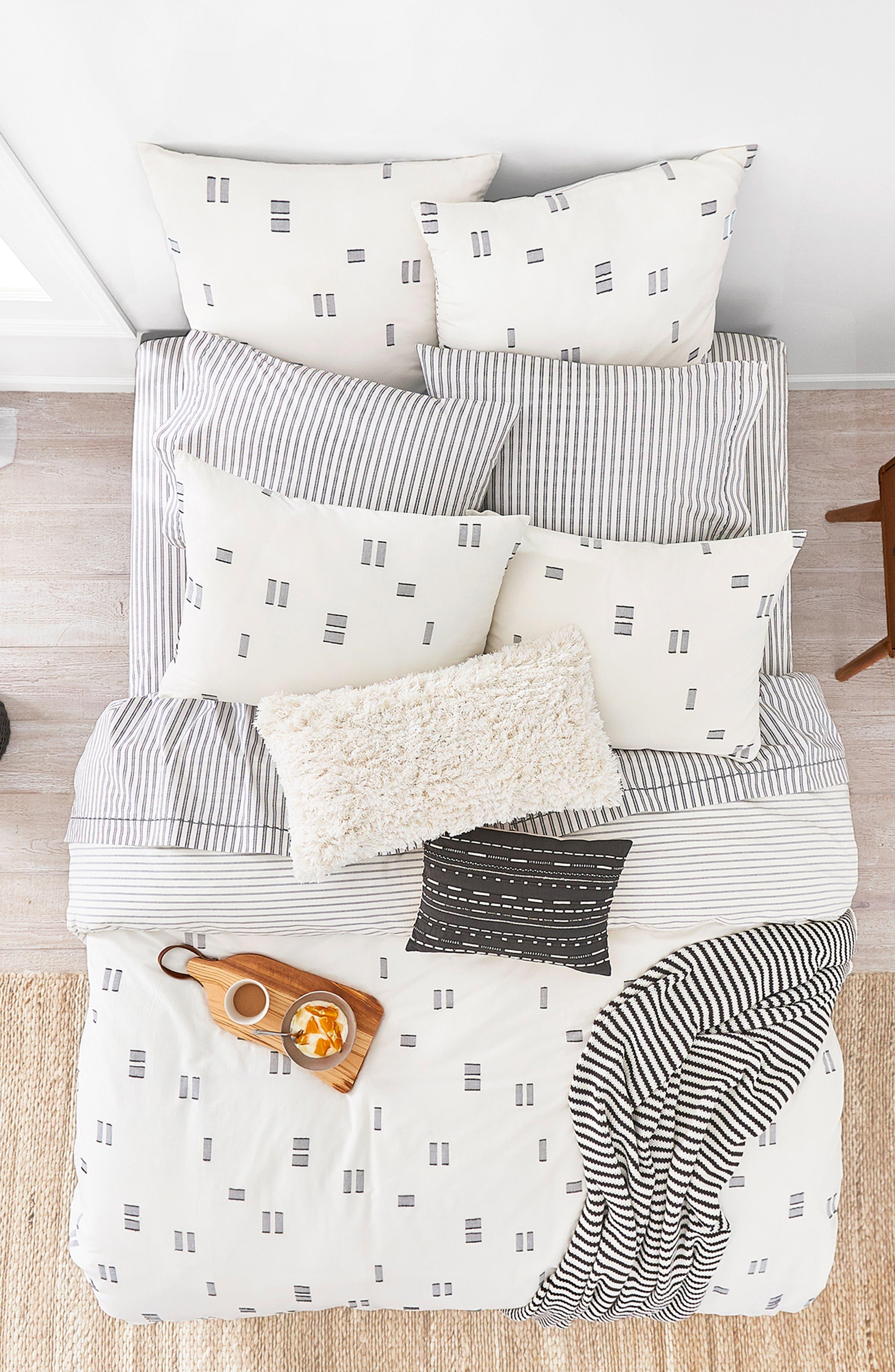 Crosshatched Comforter & Sham Set,                             Alternate thumbnail 3, color,                             IVORY