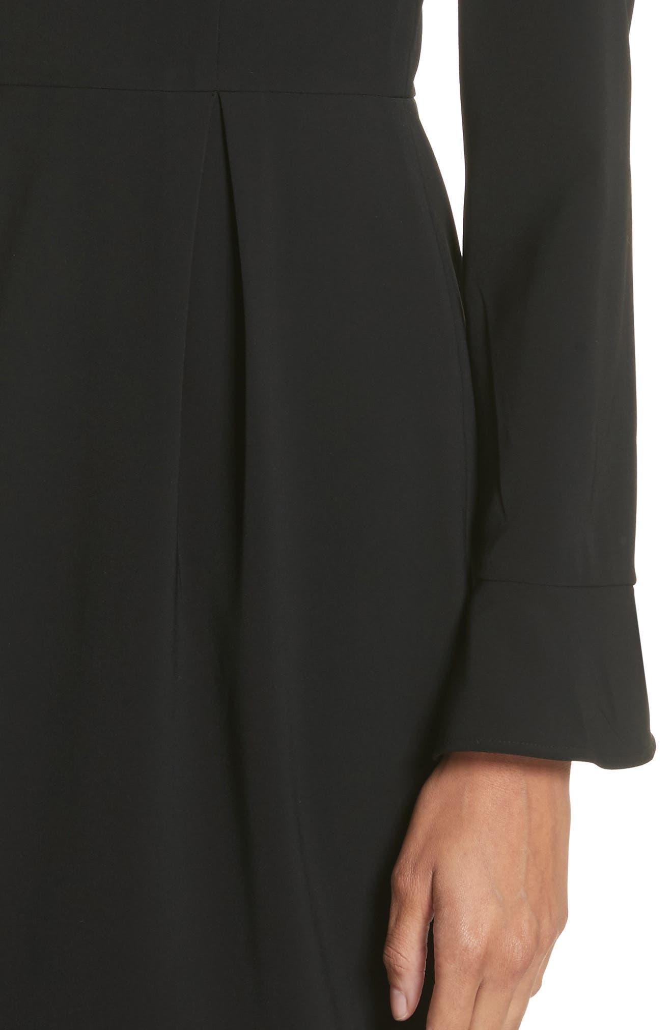 Yulid Flare Cuff Pencil Dress,                             Alternate thumbnail 4, color,                             001