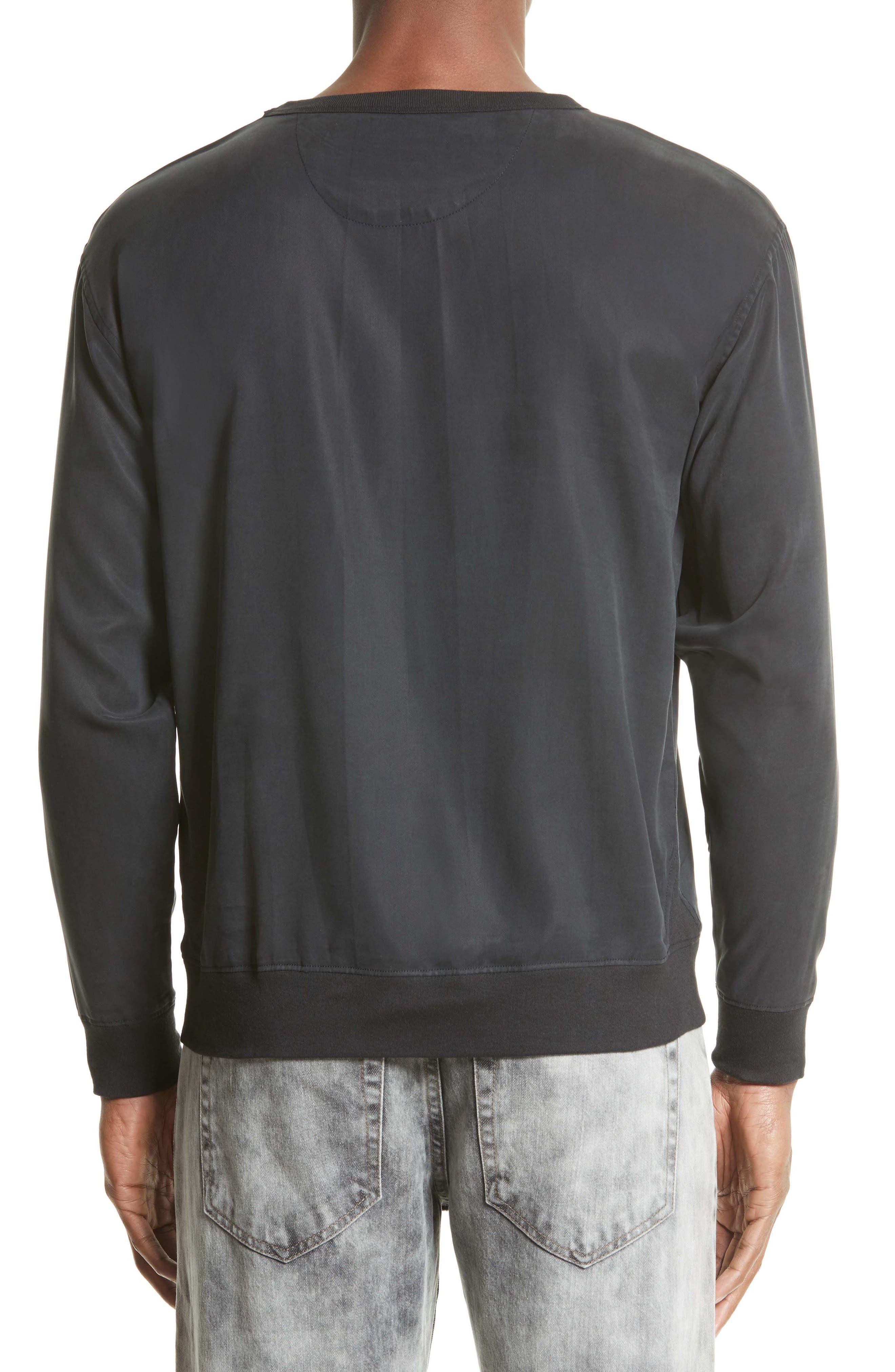 Duey Twill Crewneck Sweatshirt,                             Alternate thumbnail 2, color,                             001