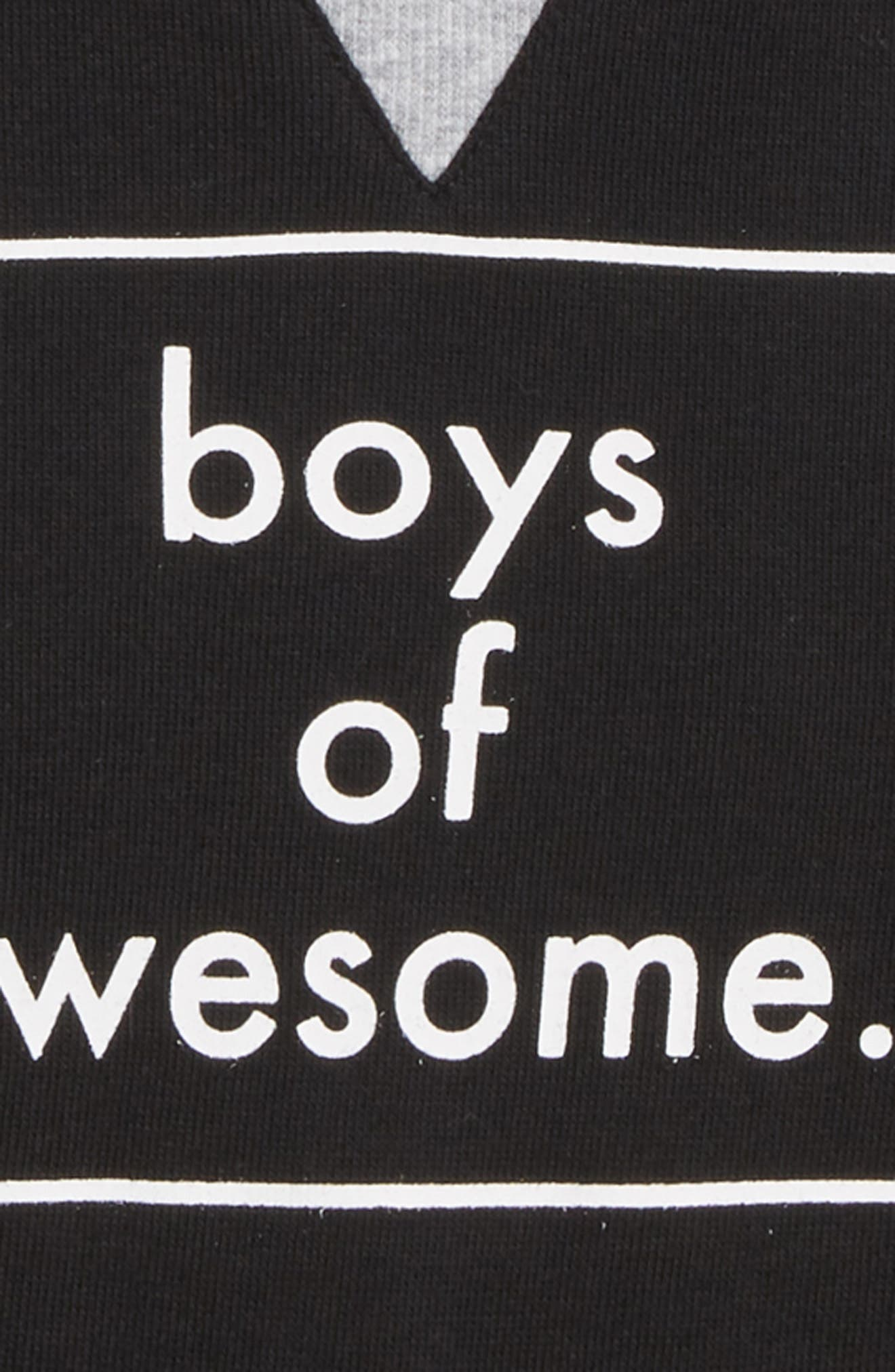 Boys of Awesome Sweatshirt,                             Alternate thumbnail 3, color,                             001