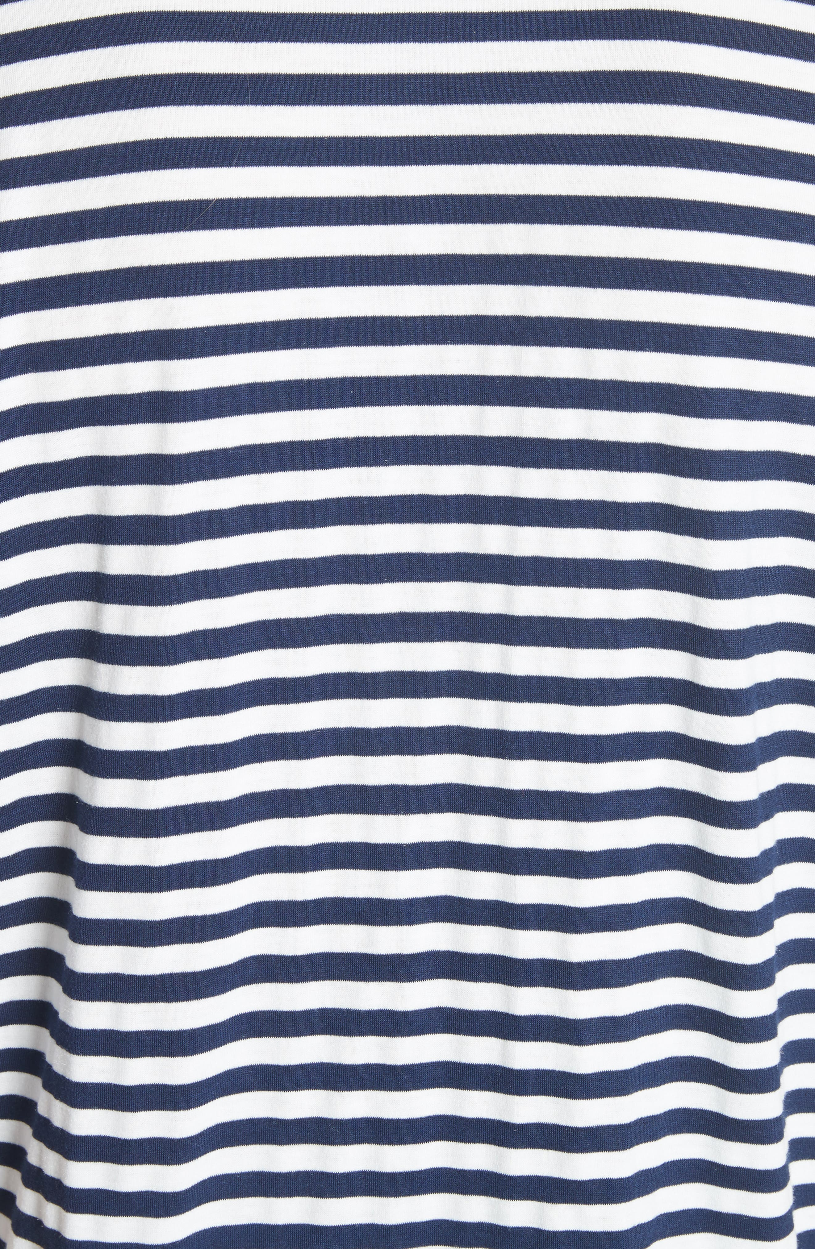 CLU,                             Ruffle Sleeve Stripe Tee,                             Alternate thumbnail 5, color,                             491