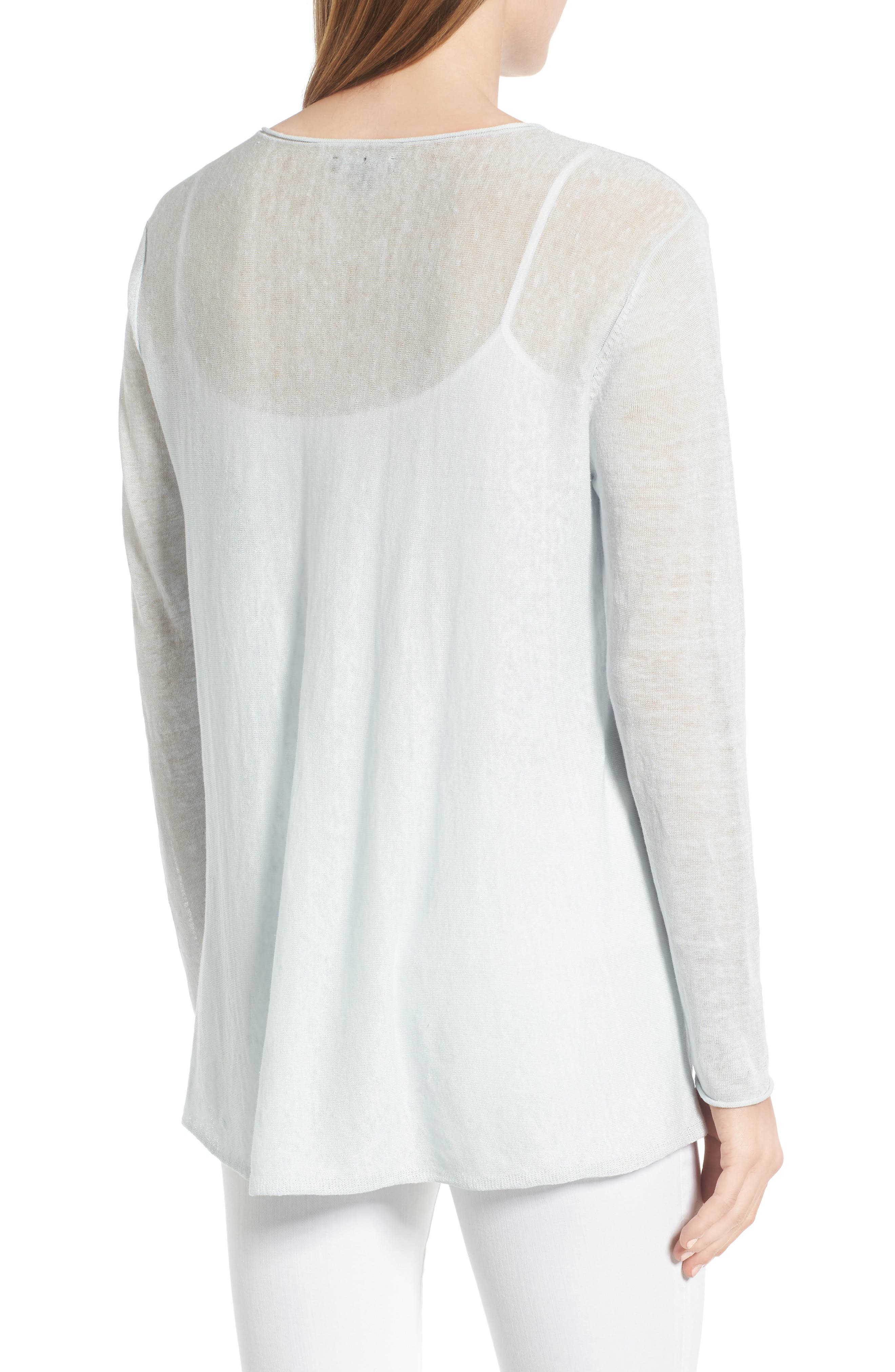 Organic Linen Blend Swing Sweater,                             Alternate thumbnail 19, color,