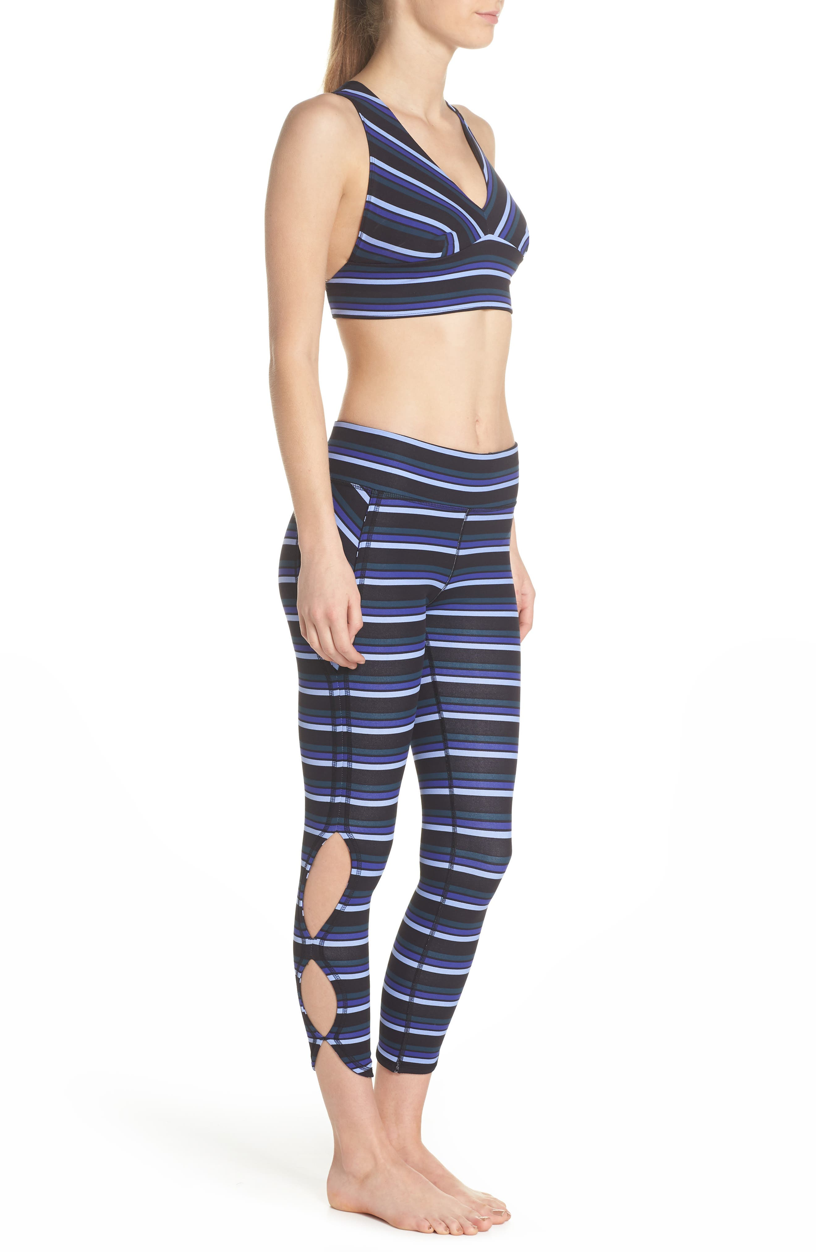 FREE PEOPLE MOVEMENT,                             Stripe Infinity Leggings,                             Alternate thumbnail 10, color,                             001
