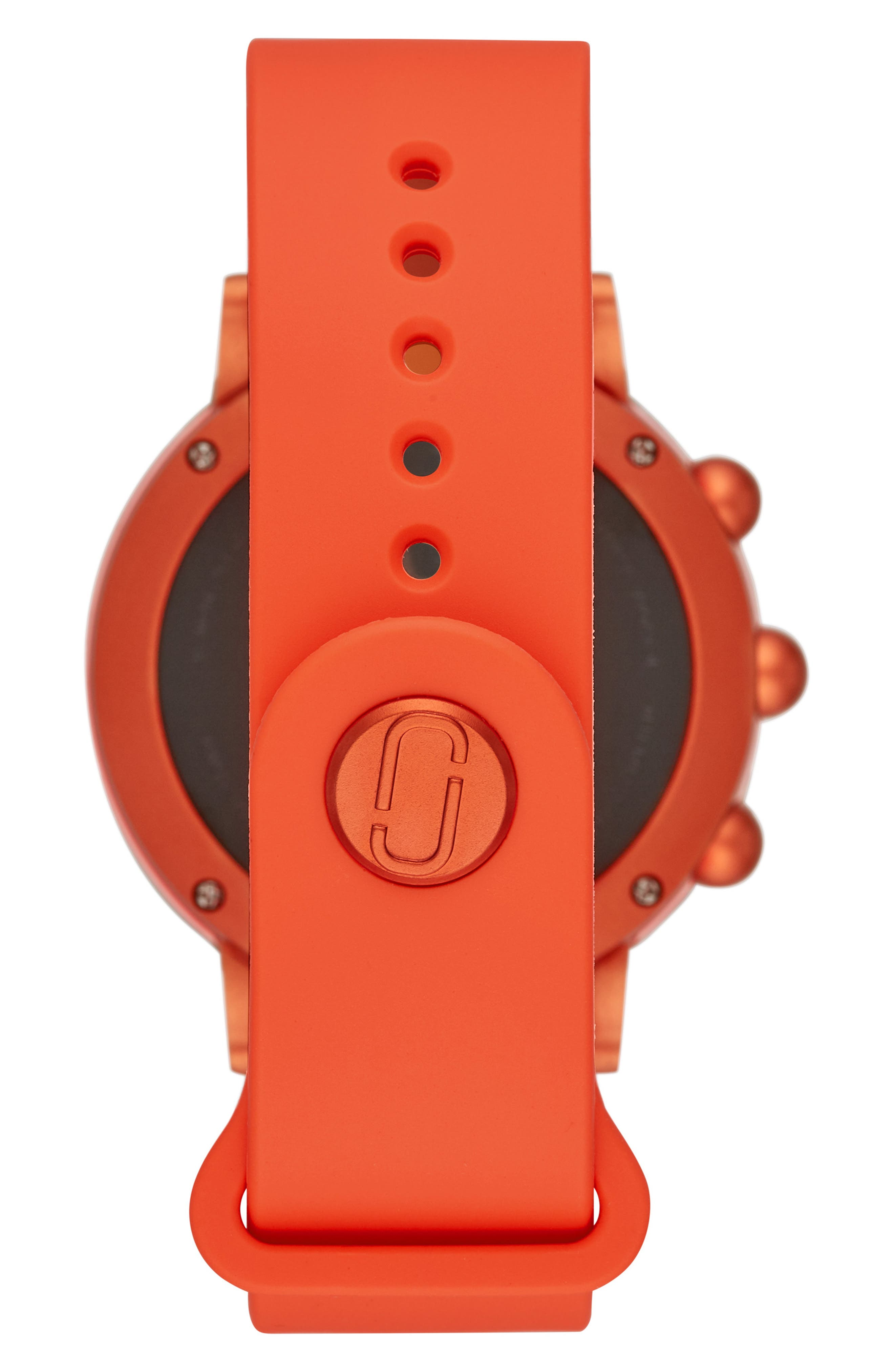 Riley Hybrid Rubber Strap Smart Watch, 44mm,                             Alternate thumbnail 2, color,                             CORAL