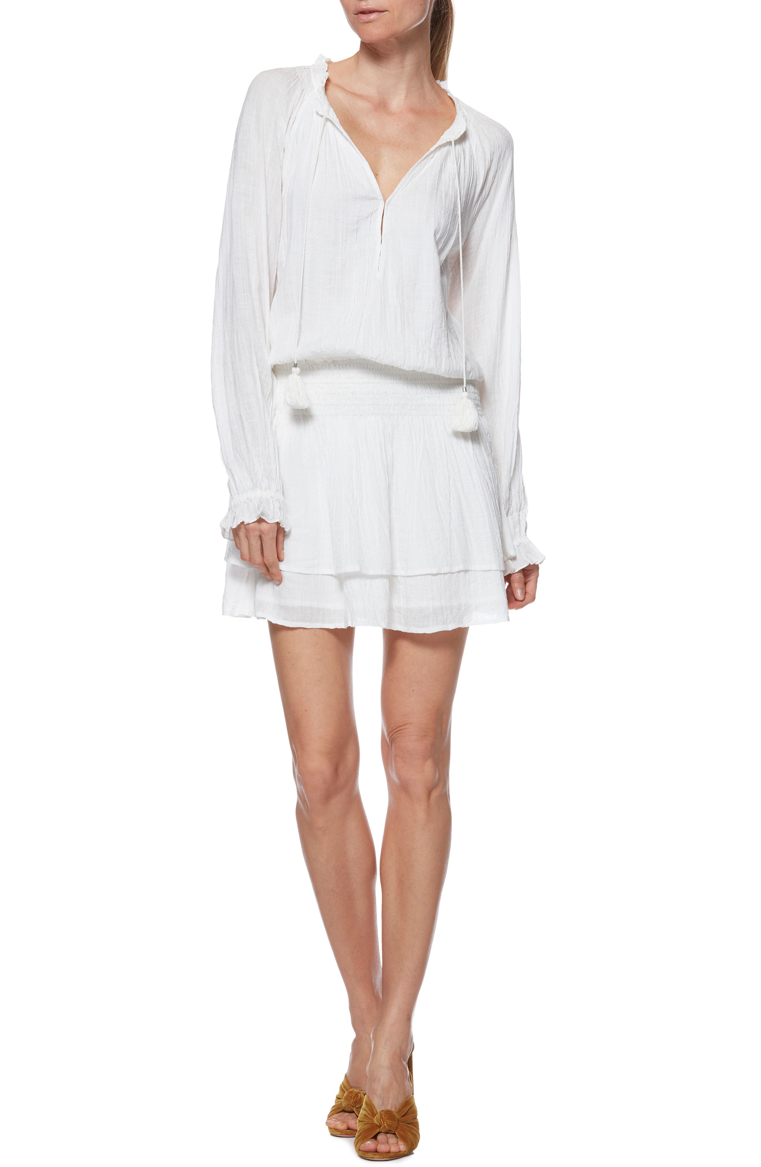 Lemay Dress,                         Main,                         color, WHITE