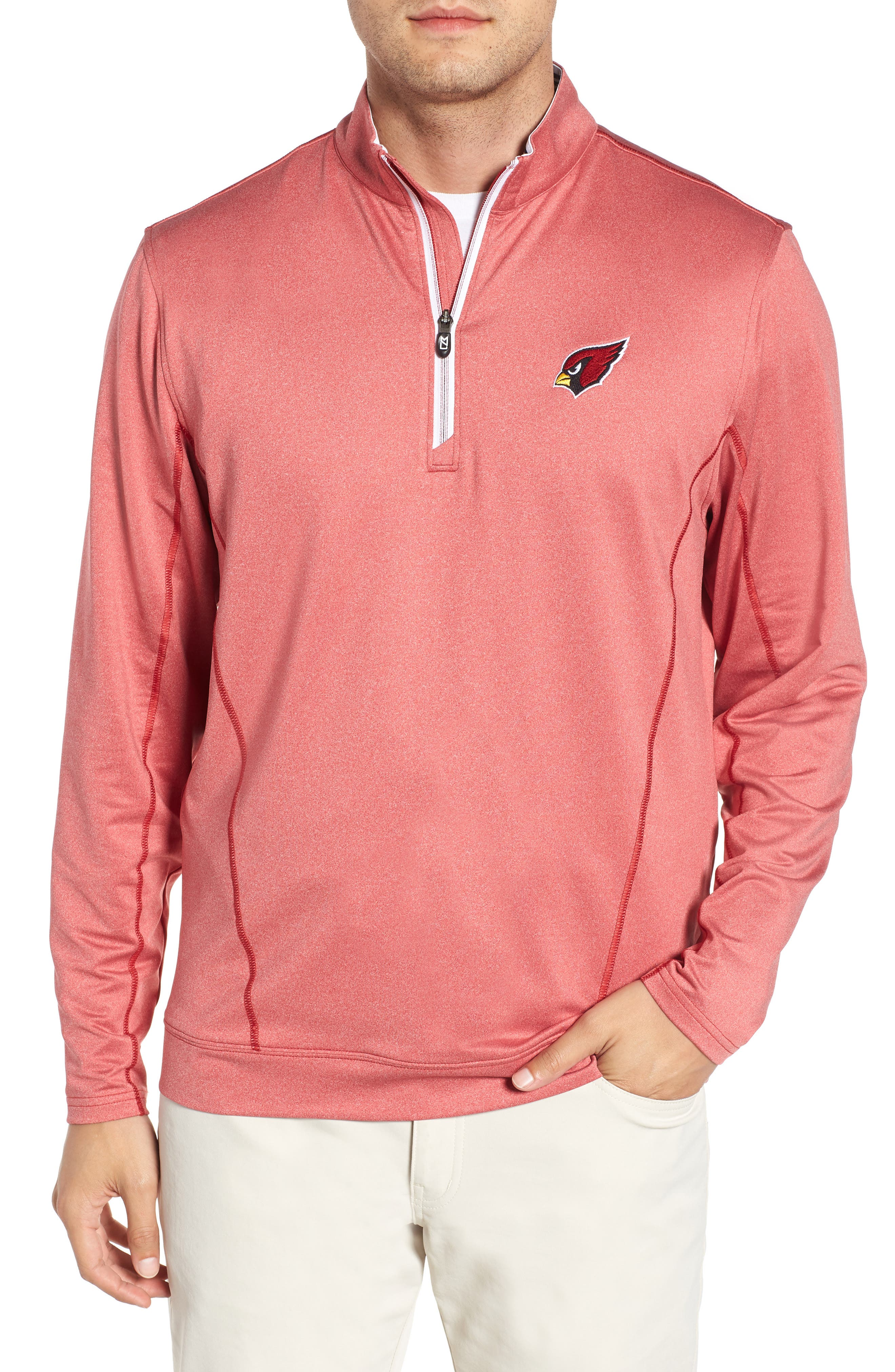 Endurance Arizona Cardinals Regular Fit Pullover,                         Main,                         color, CARDINAL RED HEATHER