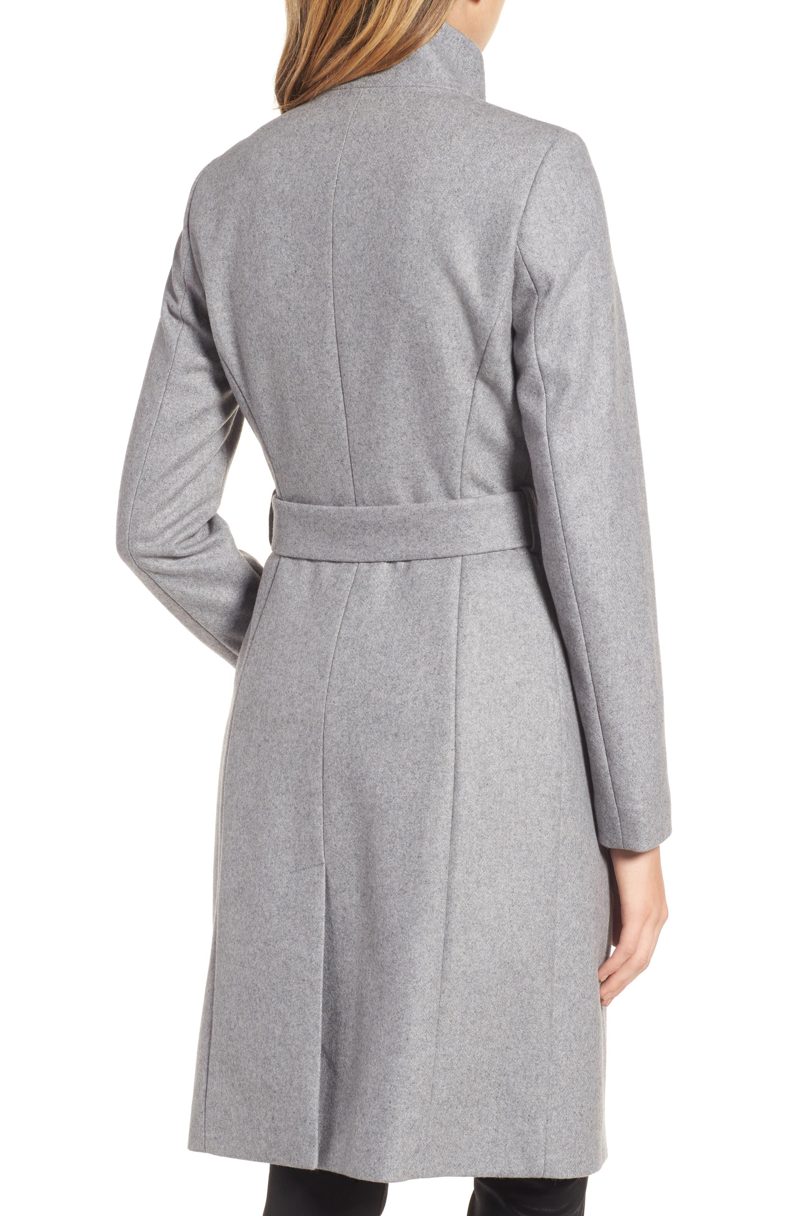 Wool Blend Long Wrap Coat,                             Alternate thumbnail 2, color,                             050