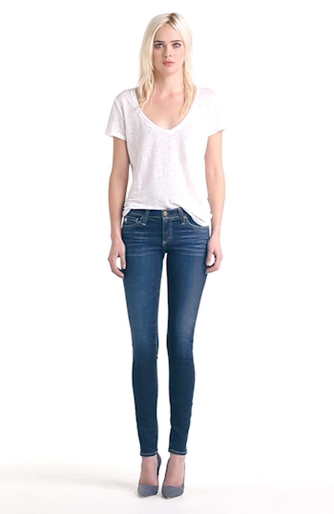 'The Legging' Super Skinny Jeans,                             Alternate thumbnail 18, color,