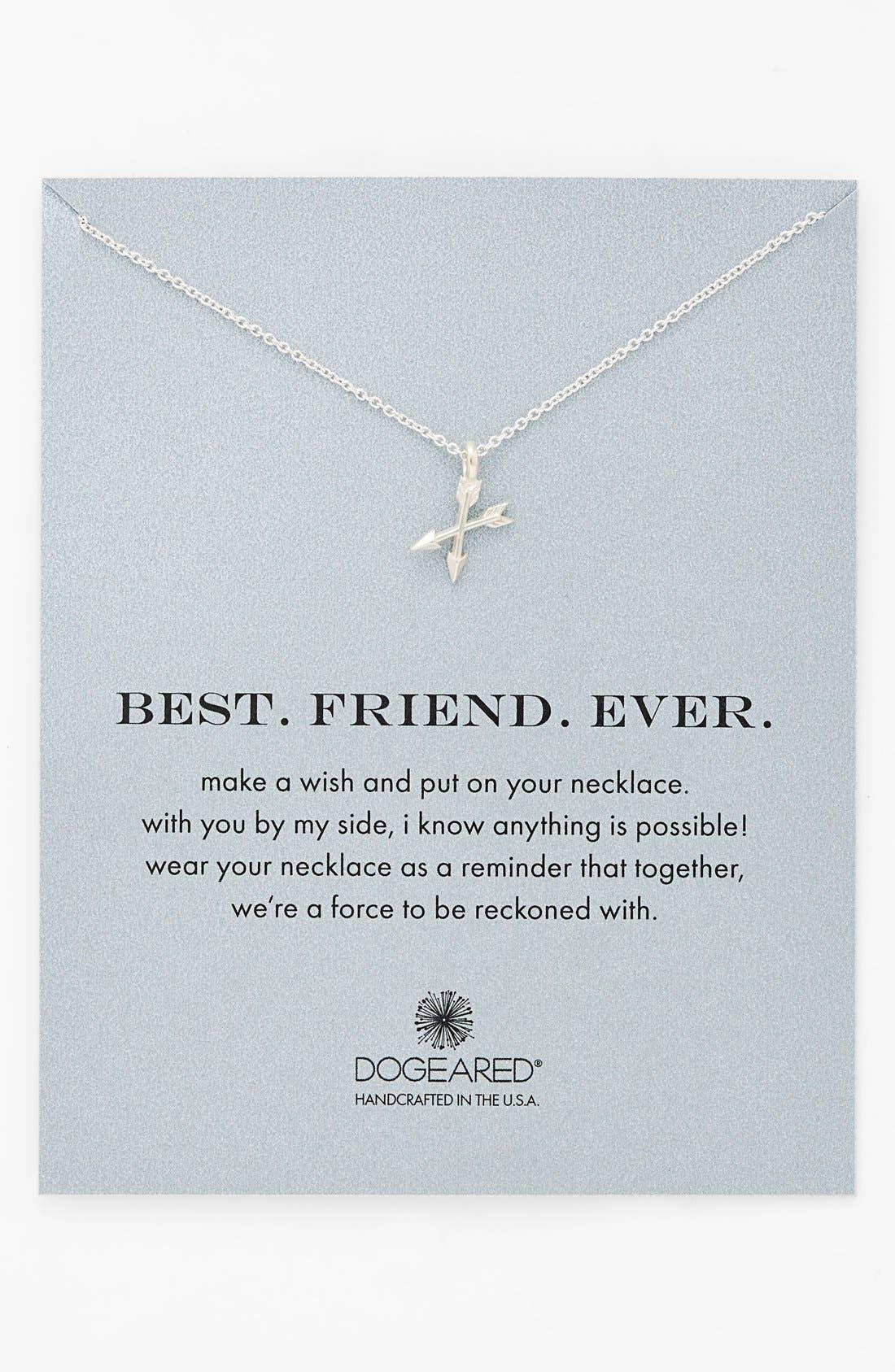 'Best. Friend. Ever.' Pendant Necklace, Main, color, 040