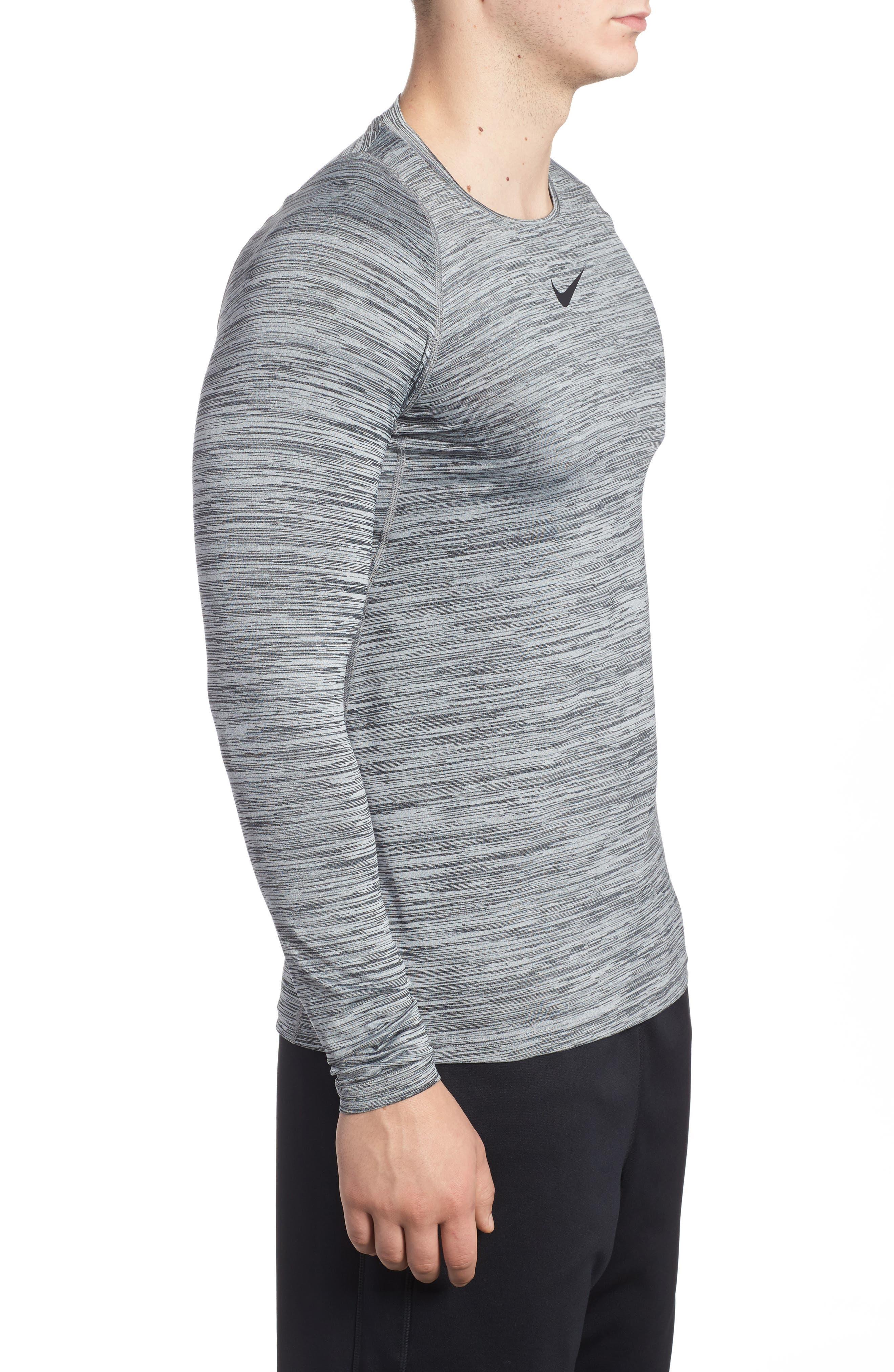 Pro Long Sleeve T-Shirt,                             Alternate thumbnail 3, color,                             010