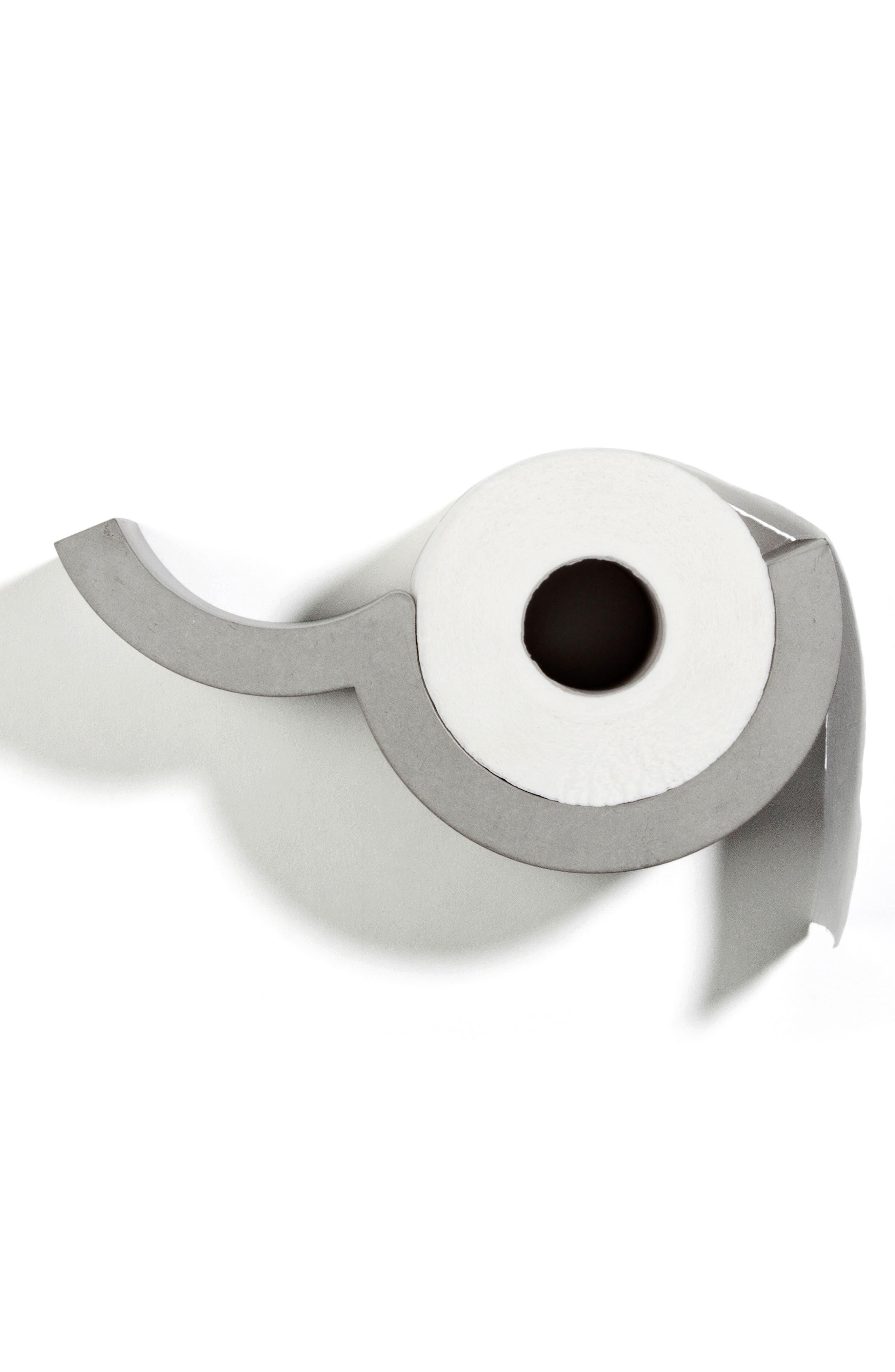 Lyon Béton Extra Small Cloud Toilet Paper Holder,                             Alternate thumbnail 5, color,                             CEMENT