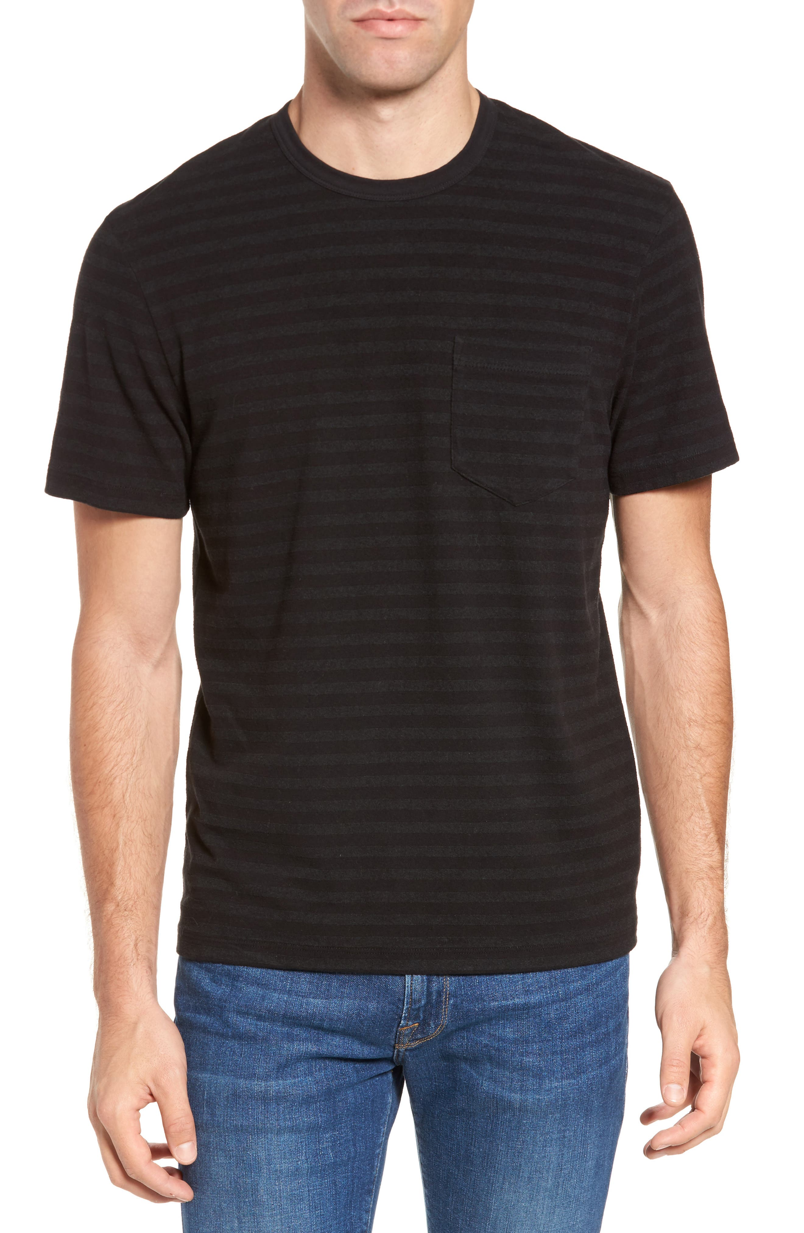 Shadow Stripe Pocket T-Shirt,                             Main thumbnail 1, color,                             020