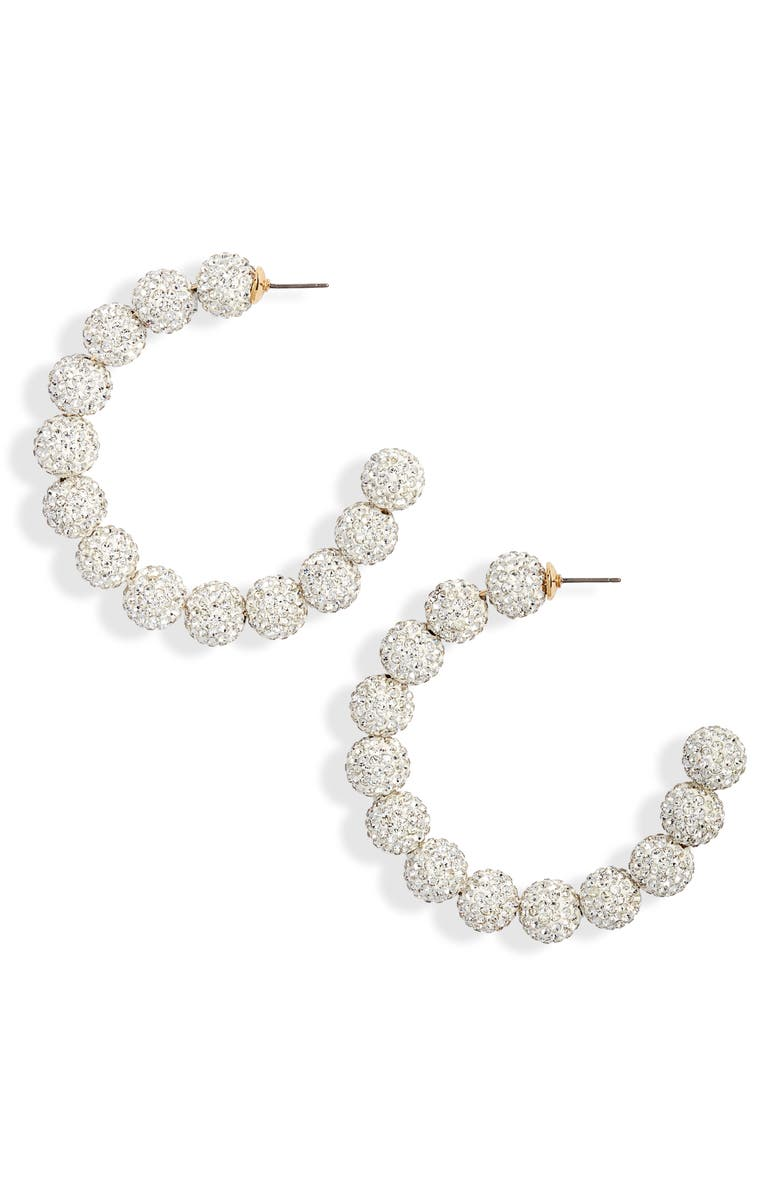 Lele Sadoughi Stardust Crystal Hoop Earrings