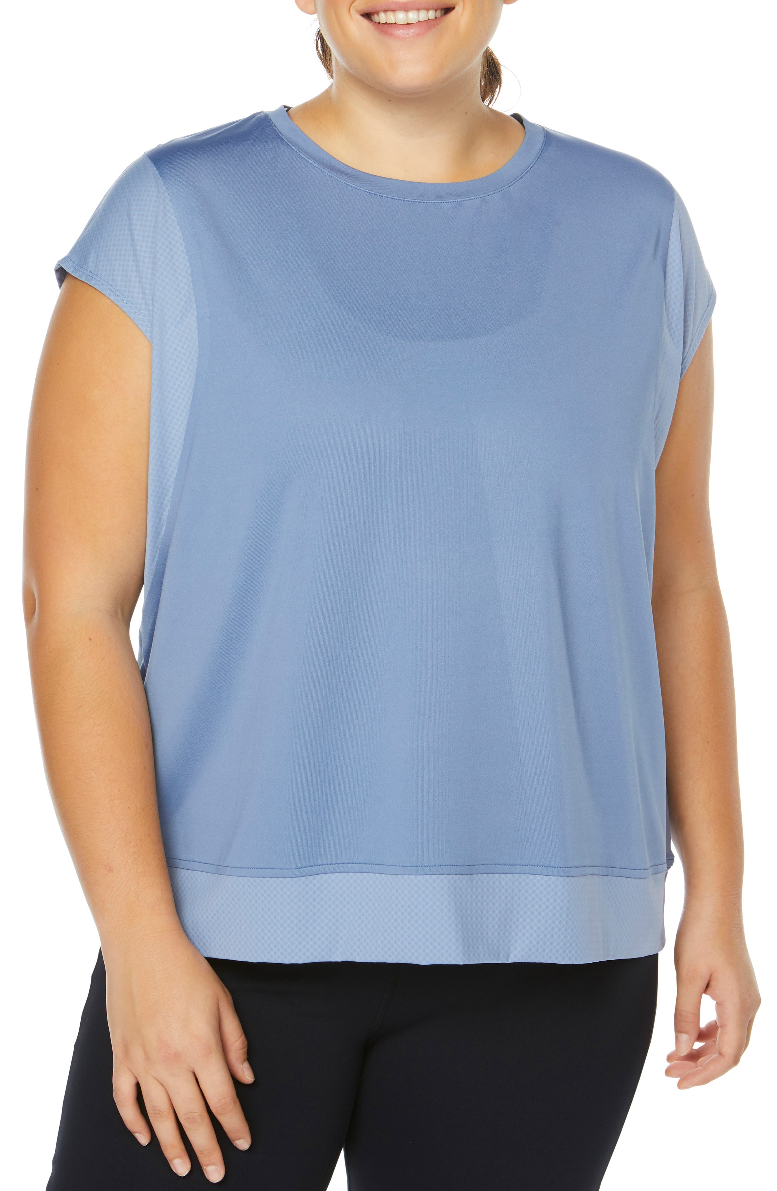 Plus Size Shape Activewear Flaunt Tee, Blue
