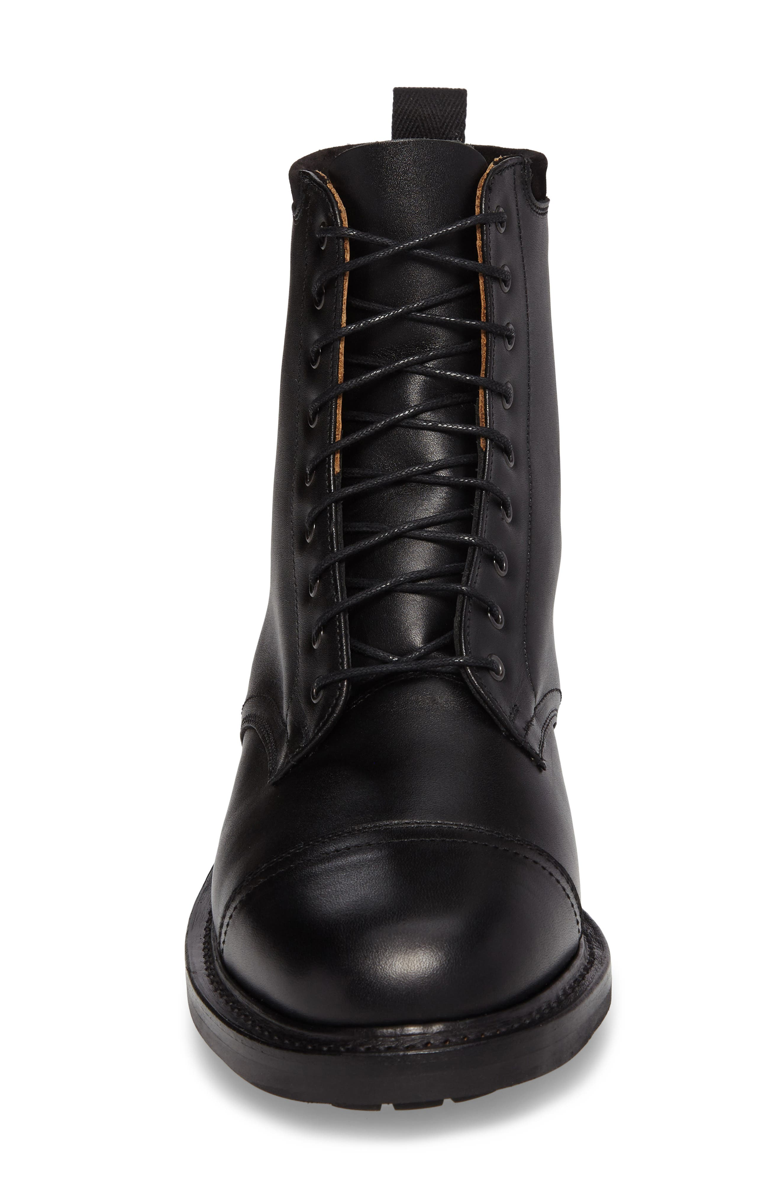 CLARKS<SUP>®</SUP>,                             Clarks Craftsmaster III Cap Toe Boot,                             Alternate thumbnail 4, color,                             BLACK LEATHER