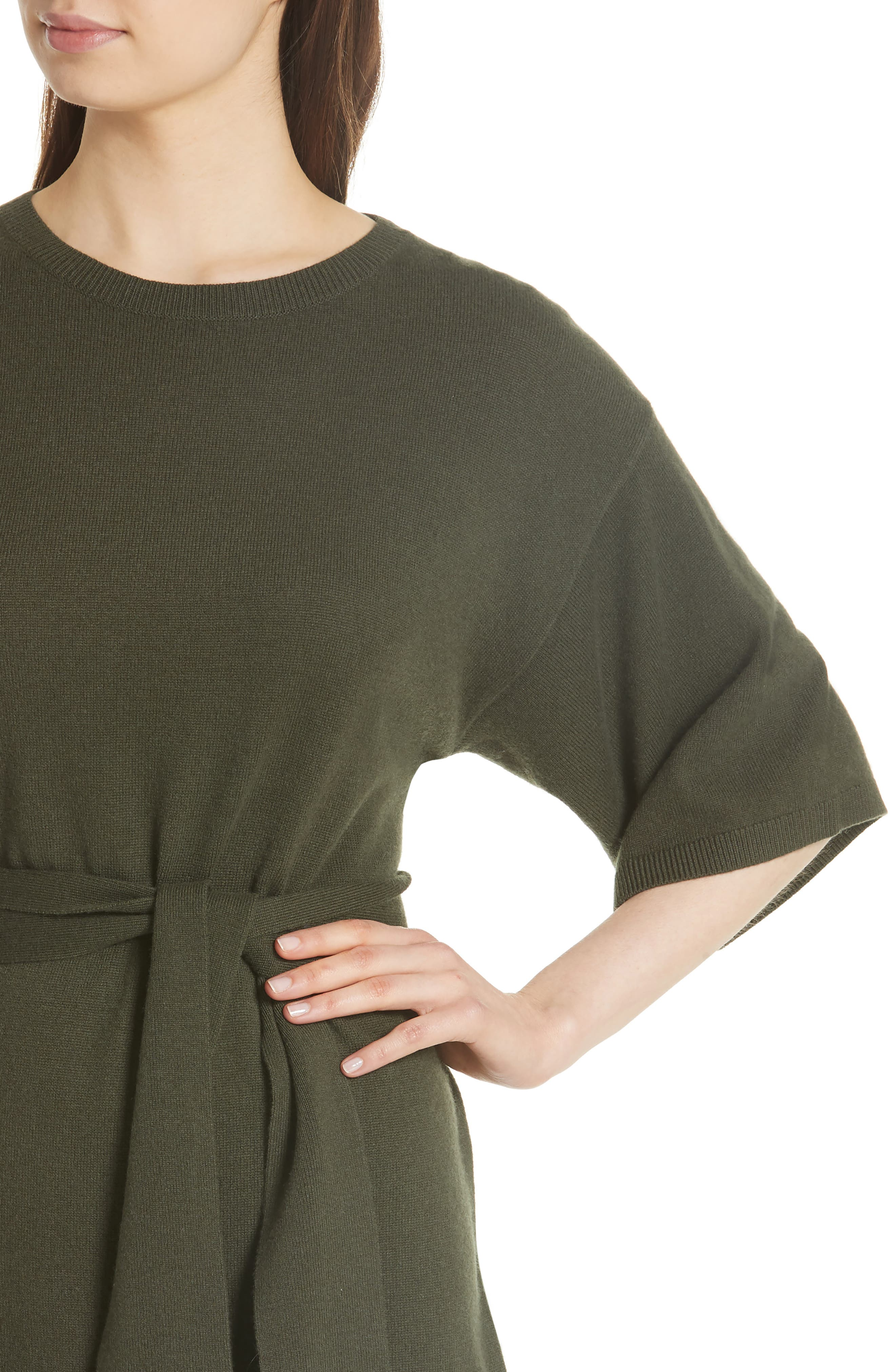 Olympy Tie Front Knit Tunic,                             Alternate thumbnail 7, color,