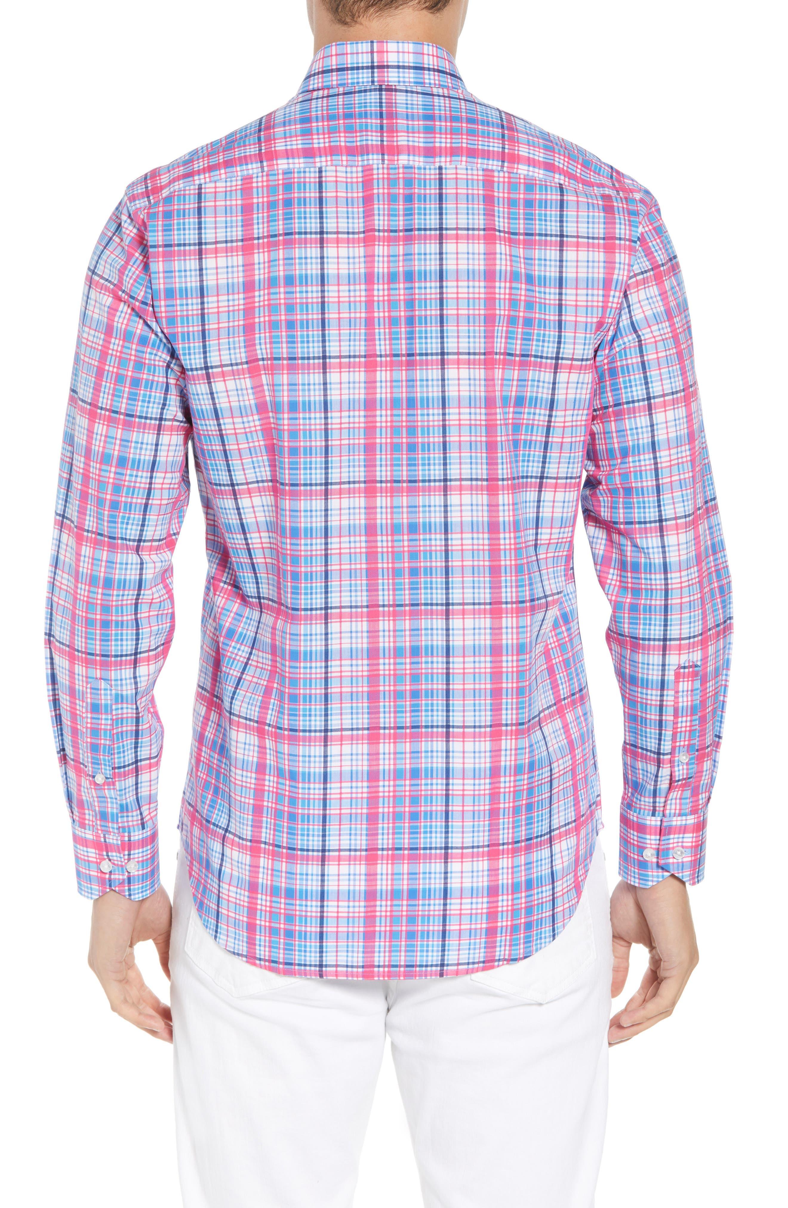 Beacon Regular Fit Plaid Sport Shirt,                             Alternate thumbnail 2, color,                             650
