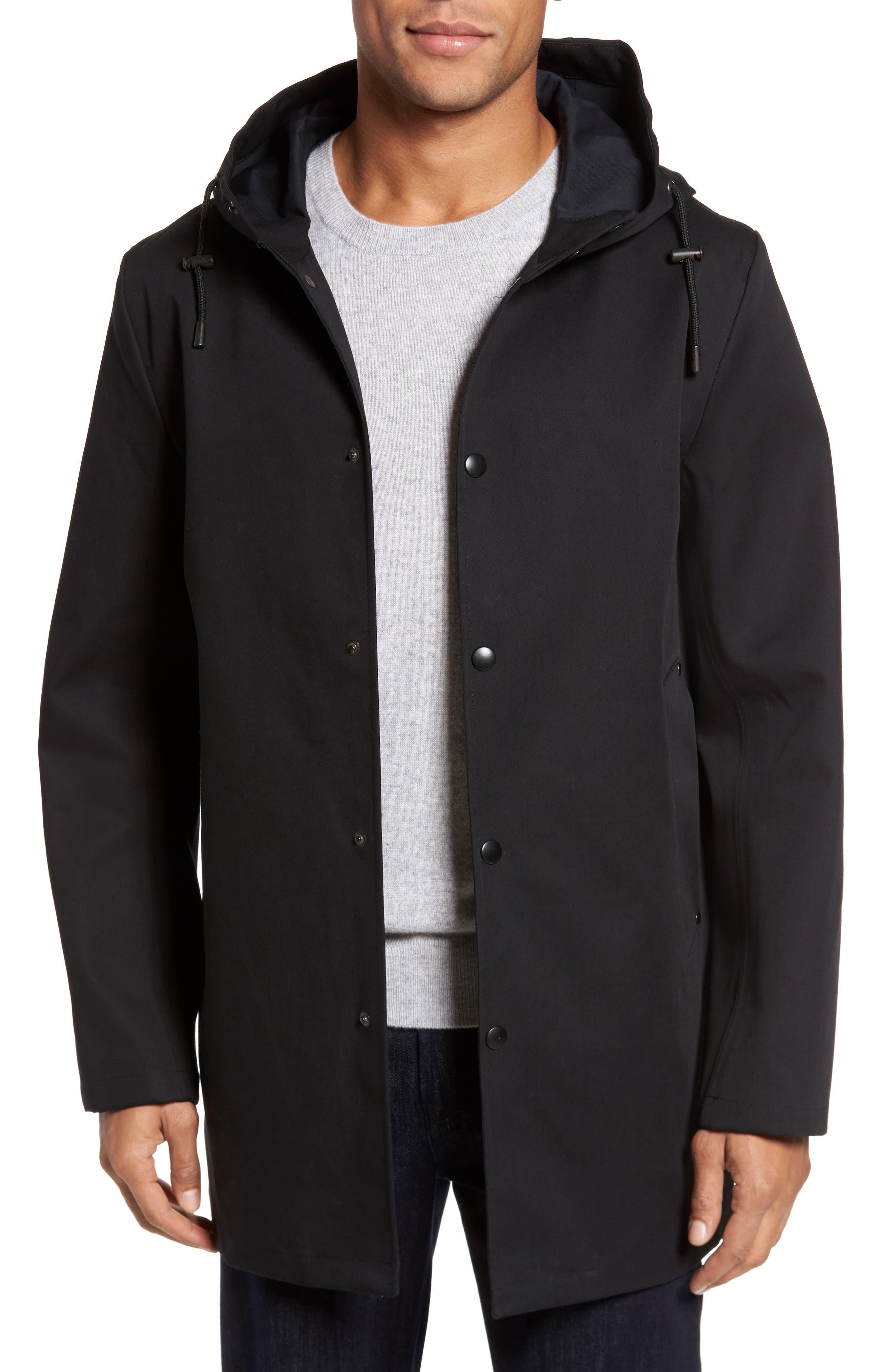 Stockholm Bonded Waterproof Hooded Raincoat,                         Main,                         color, 001