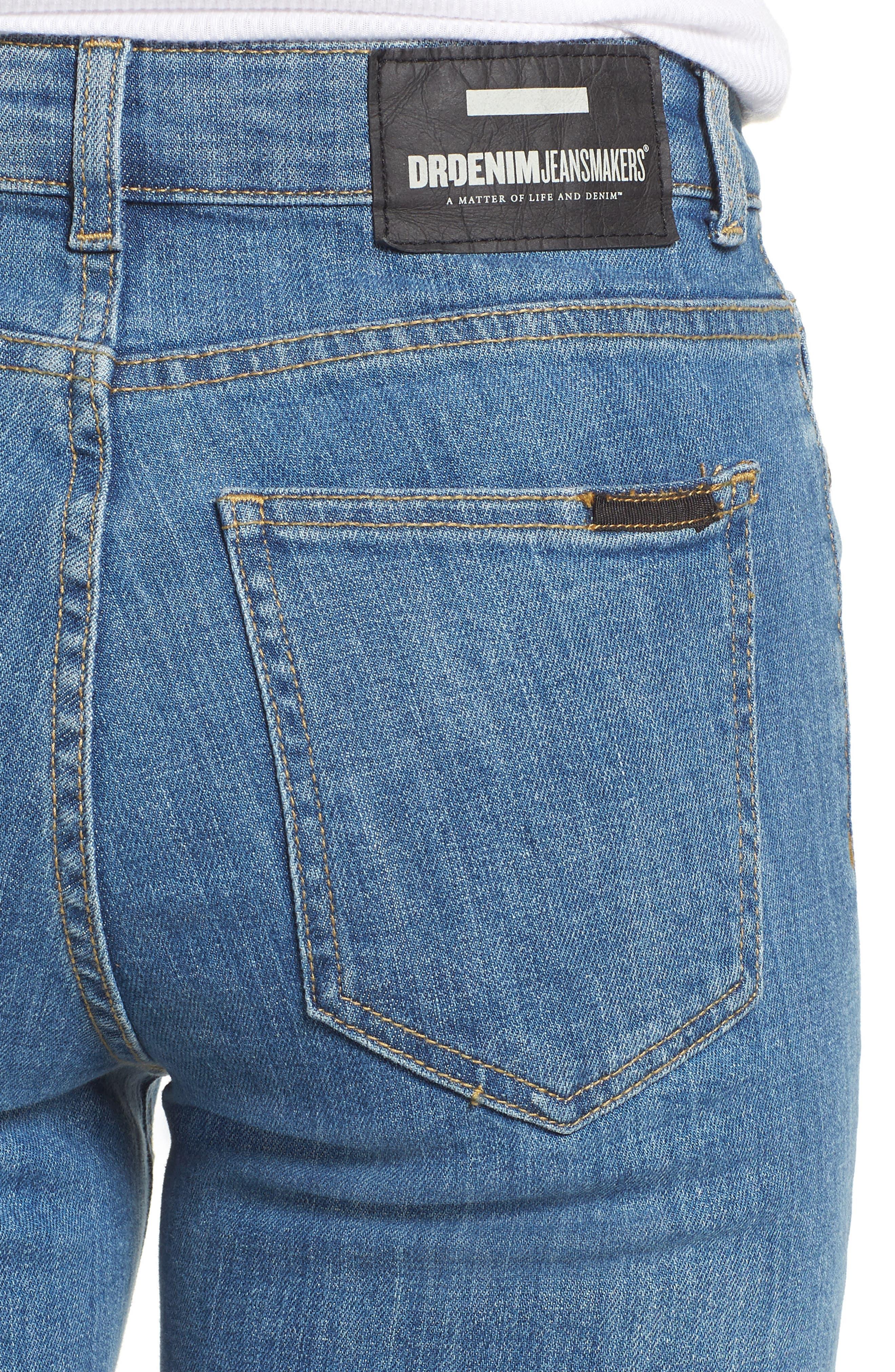 Edie High Waist Crop Jeans,                             Alternate thumbnail 4, color,                             400
