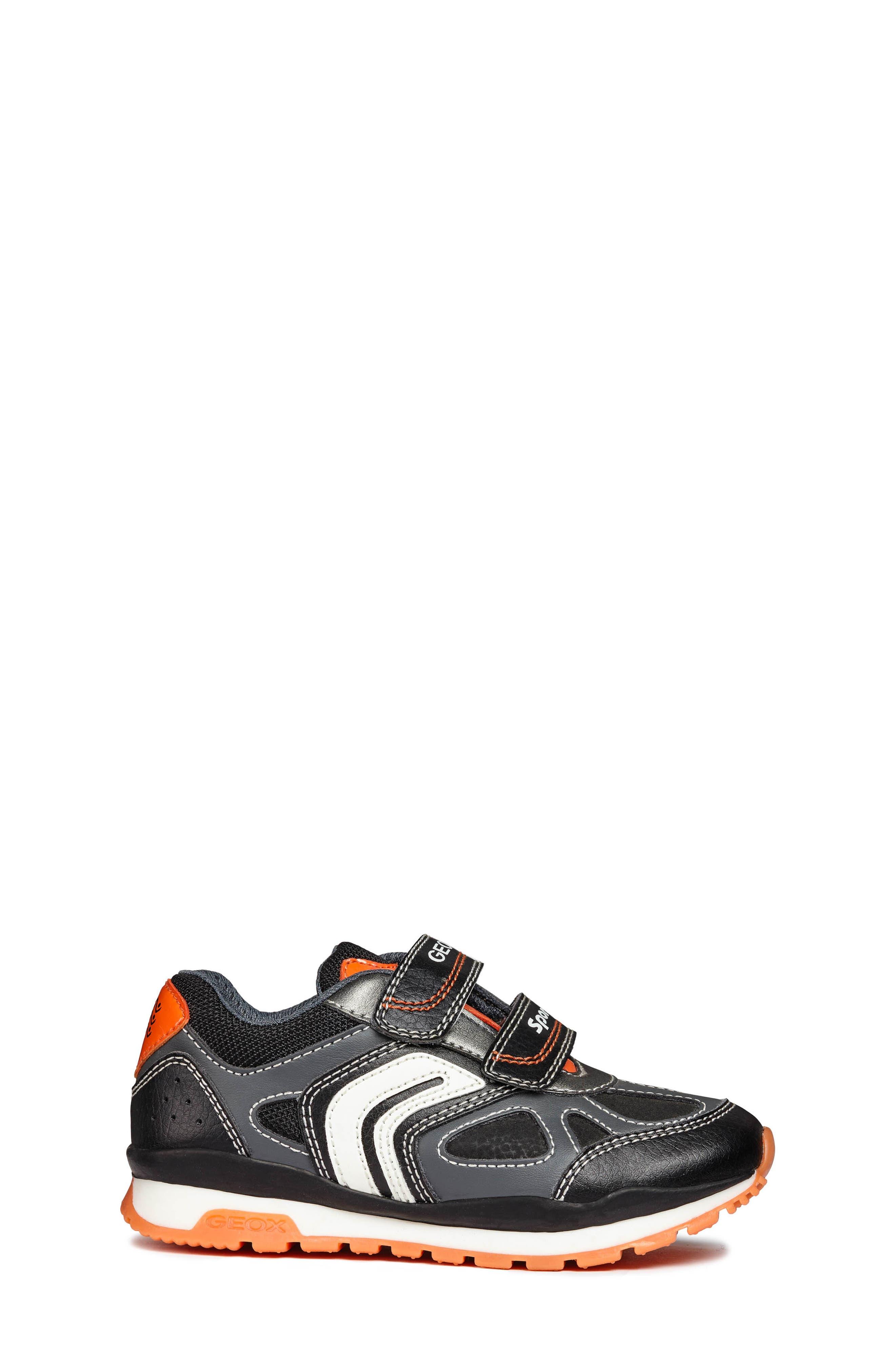 Pavel Sneaker,                             Alternate thumbnail 3, color,                             DARK GREY/ORANGE