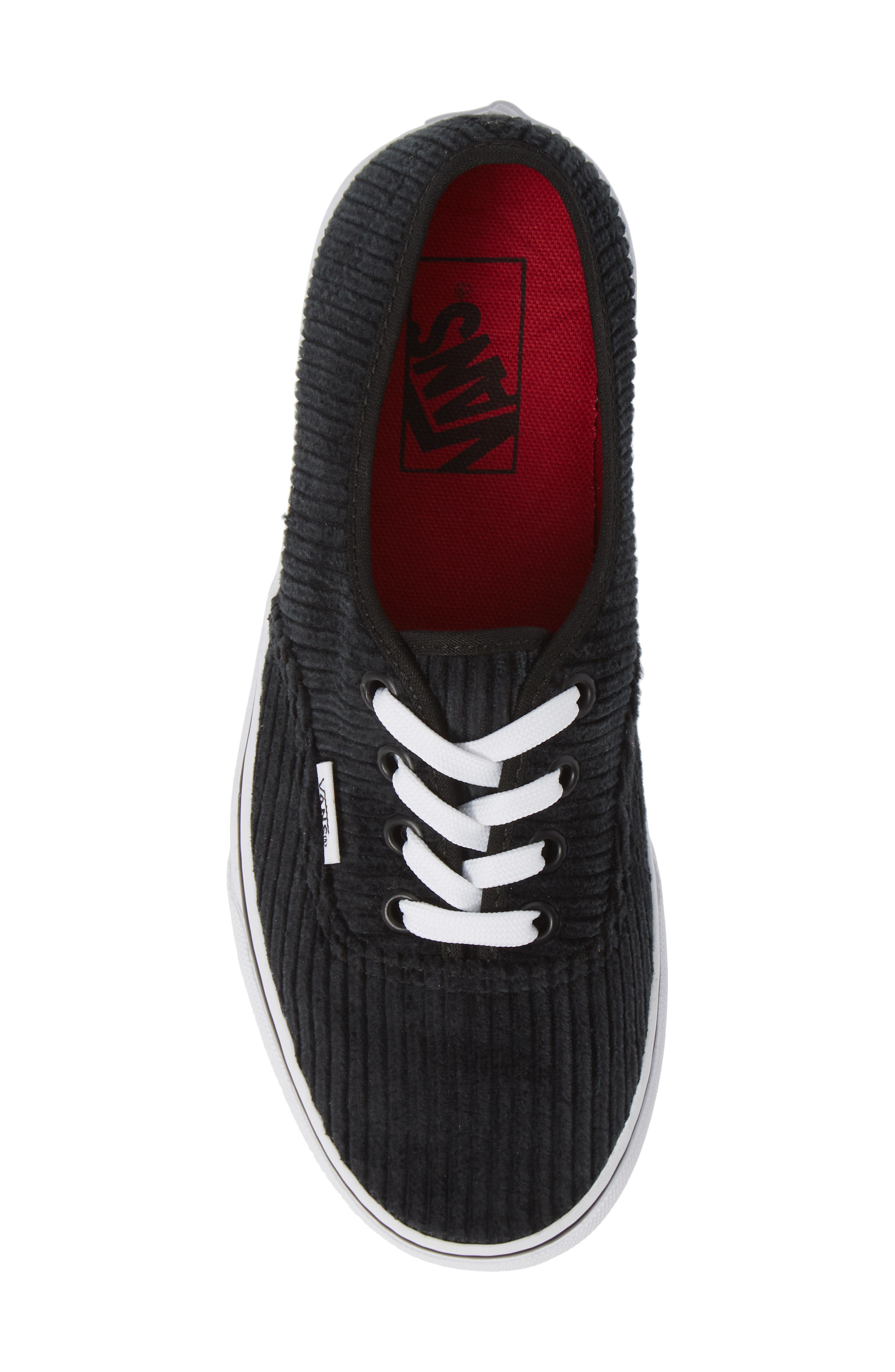 UA Authentic Design Assembly Sneaker,                             Alternate thumbnail 5, color,                             BLACK/ TRUE WHITE