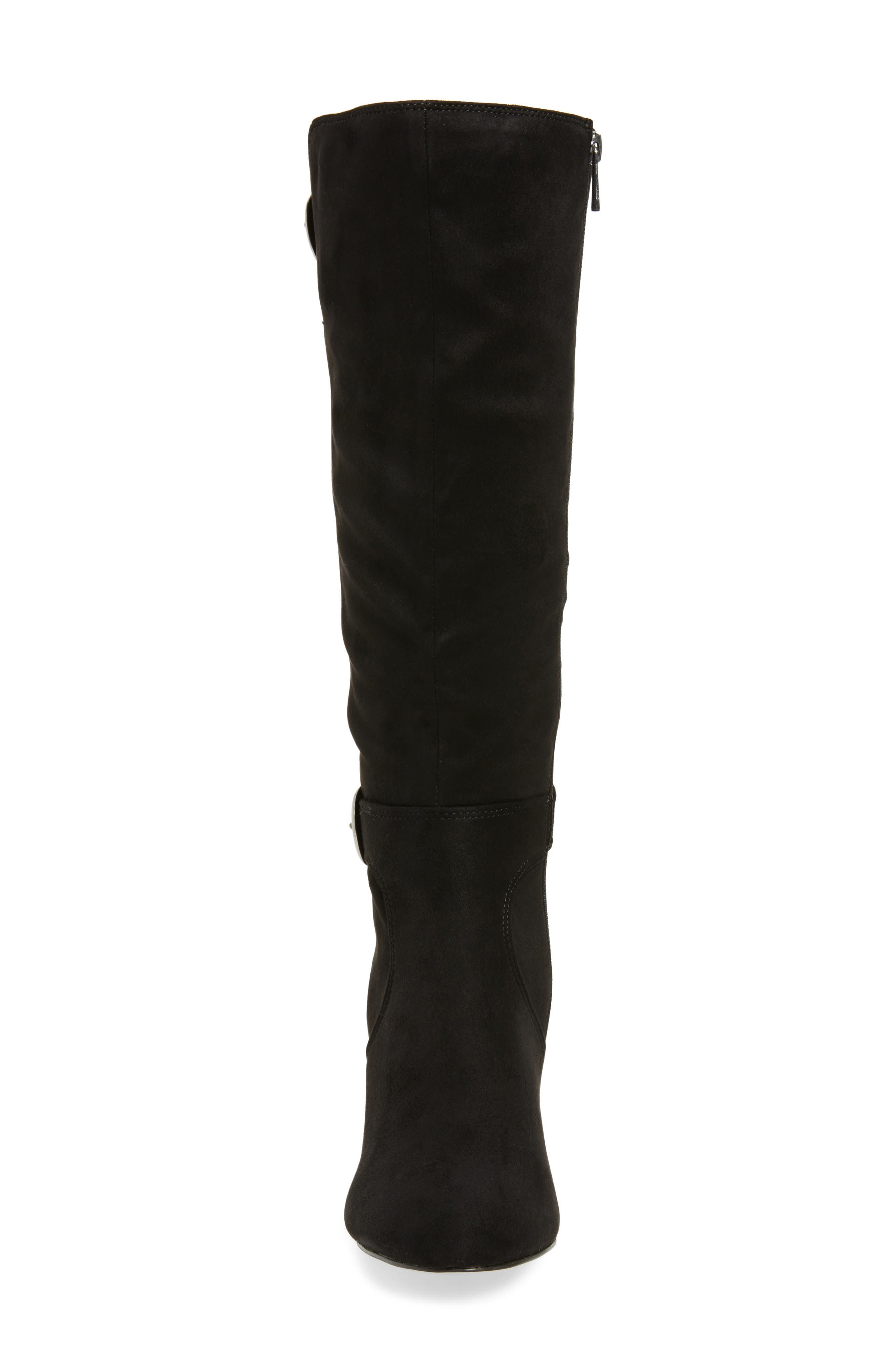 Toni II Knee High Boot,                             Alternate thumbnail 4, color,                             BLACK SUEDE