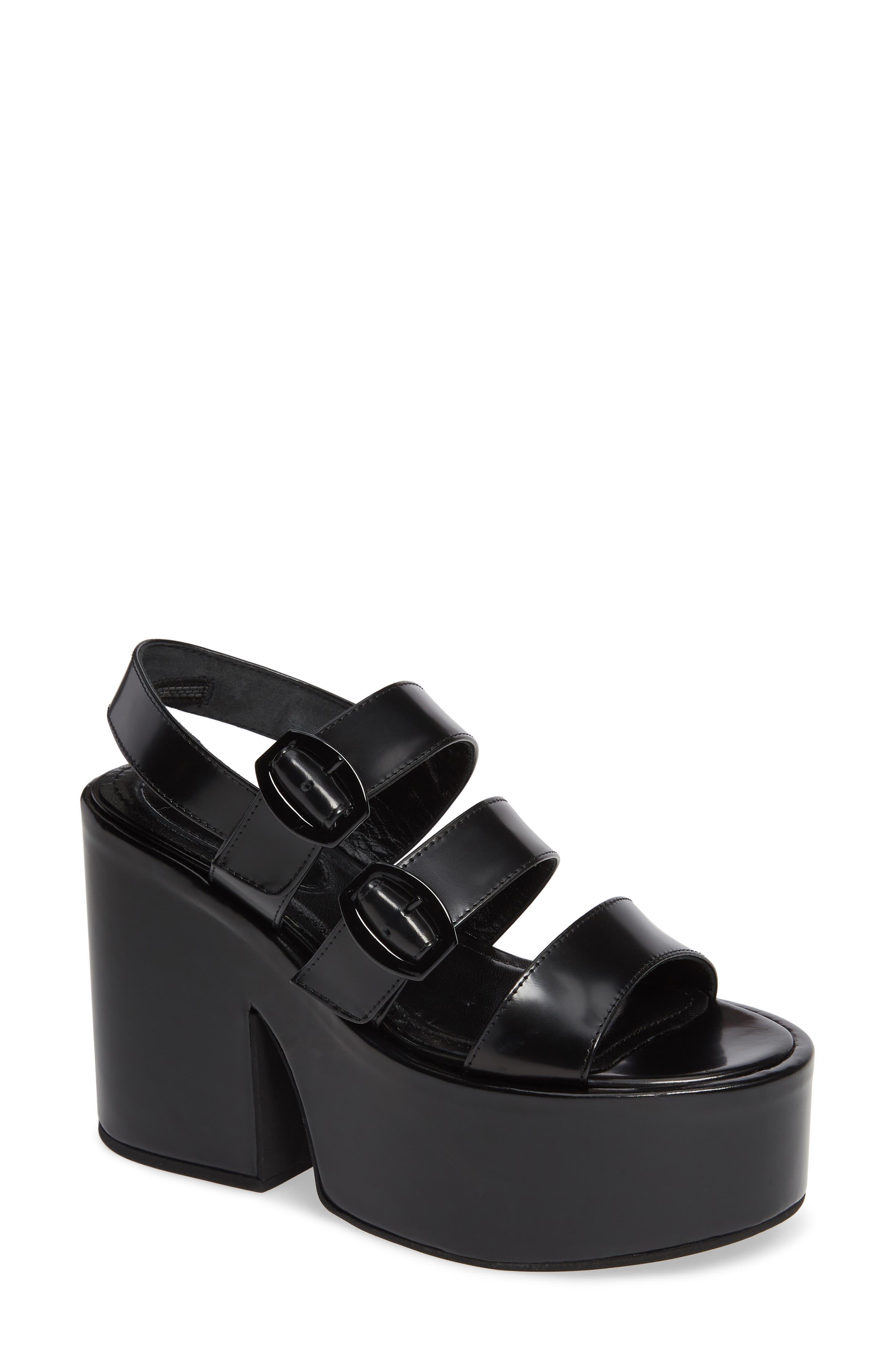 SIMONE ROCHA,                             Strappy Platform Sandal,                             Main thumbnail 1, color,                             001
