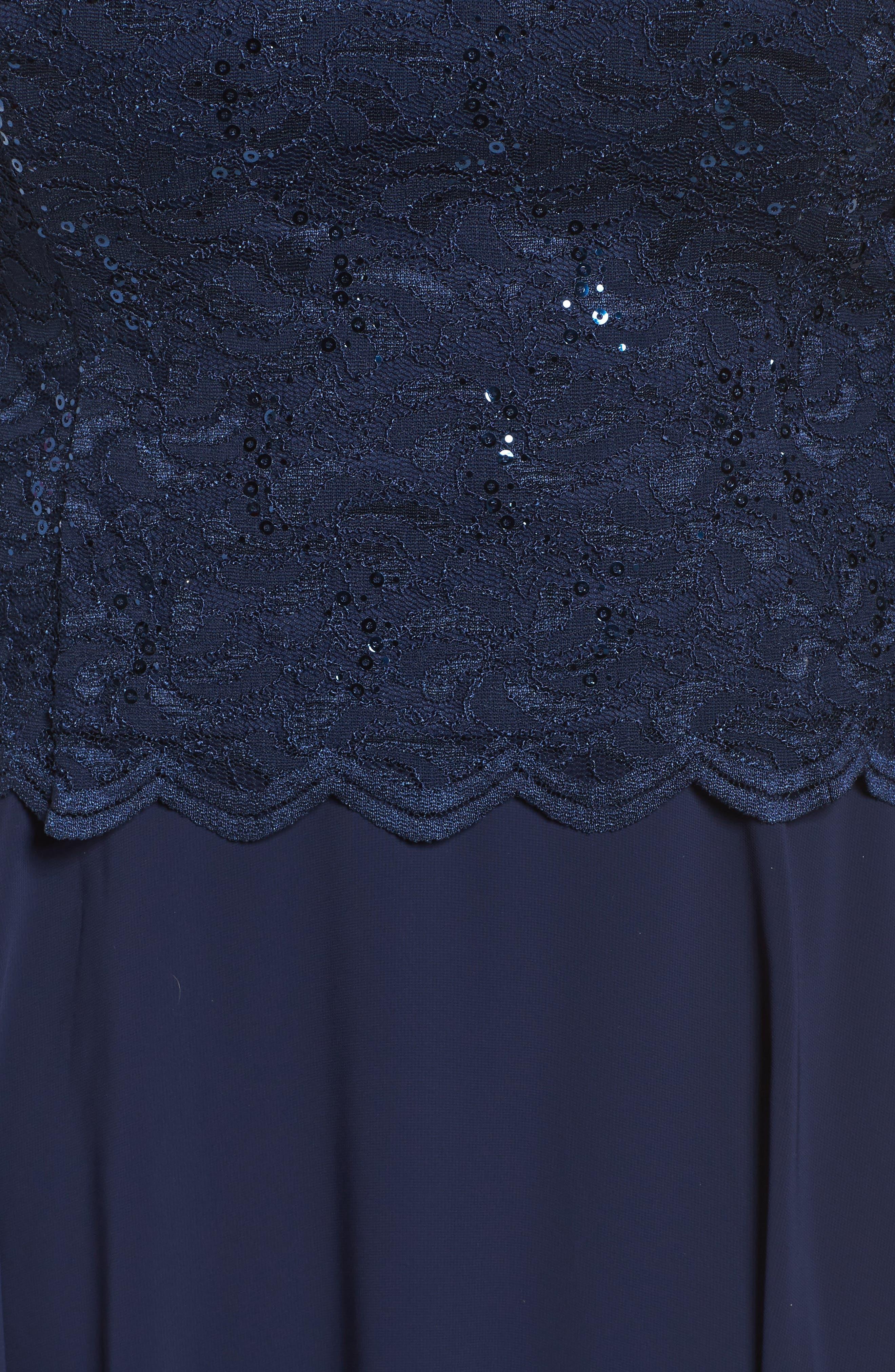 V-Neck Lace Dress,                             Alternate thumbnail 5, color,