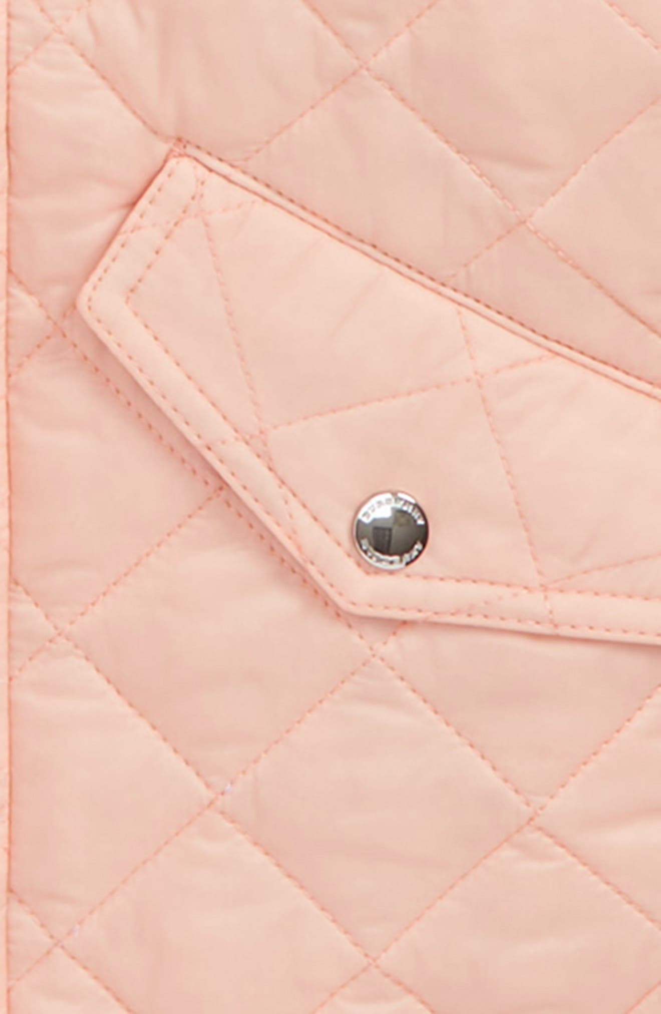 Ilana Quilted Water Repellent Jacket,                             Alternate thumbnail 2, color,                             VINTAGE ROSE
