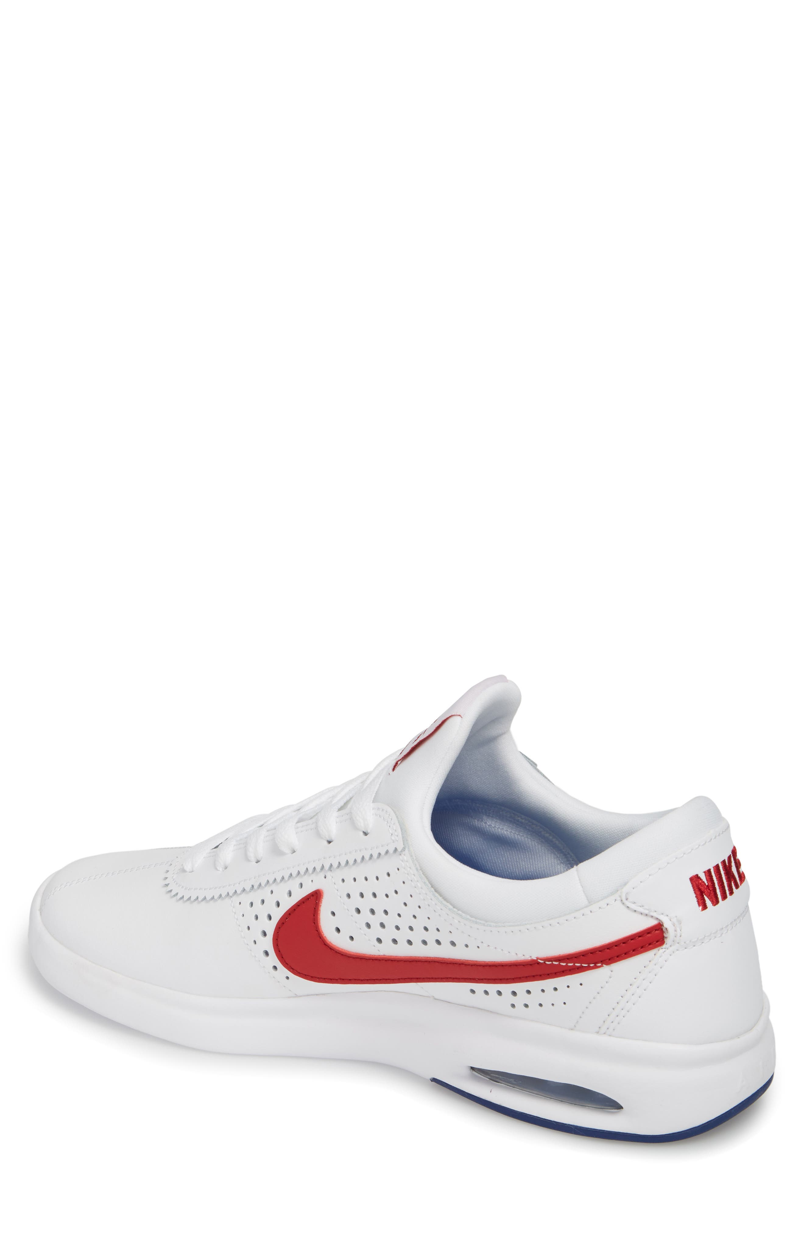 SB Air Max Bruin Vapor Skateboarding Sneaker,                             Alternate thumbnail 2, color,                             100