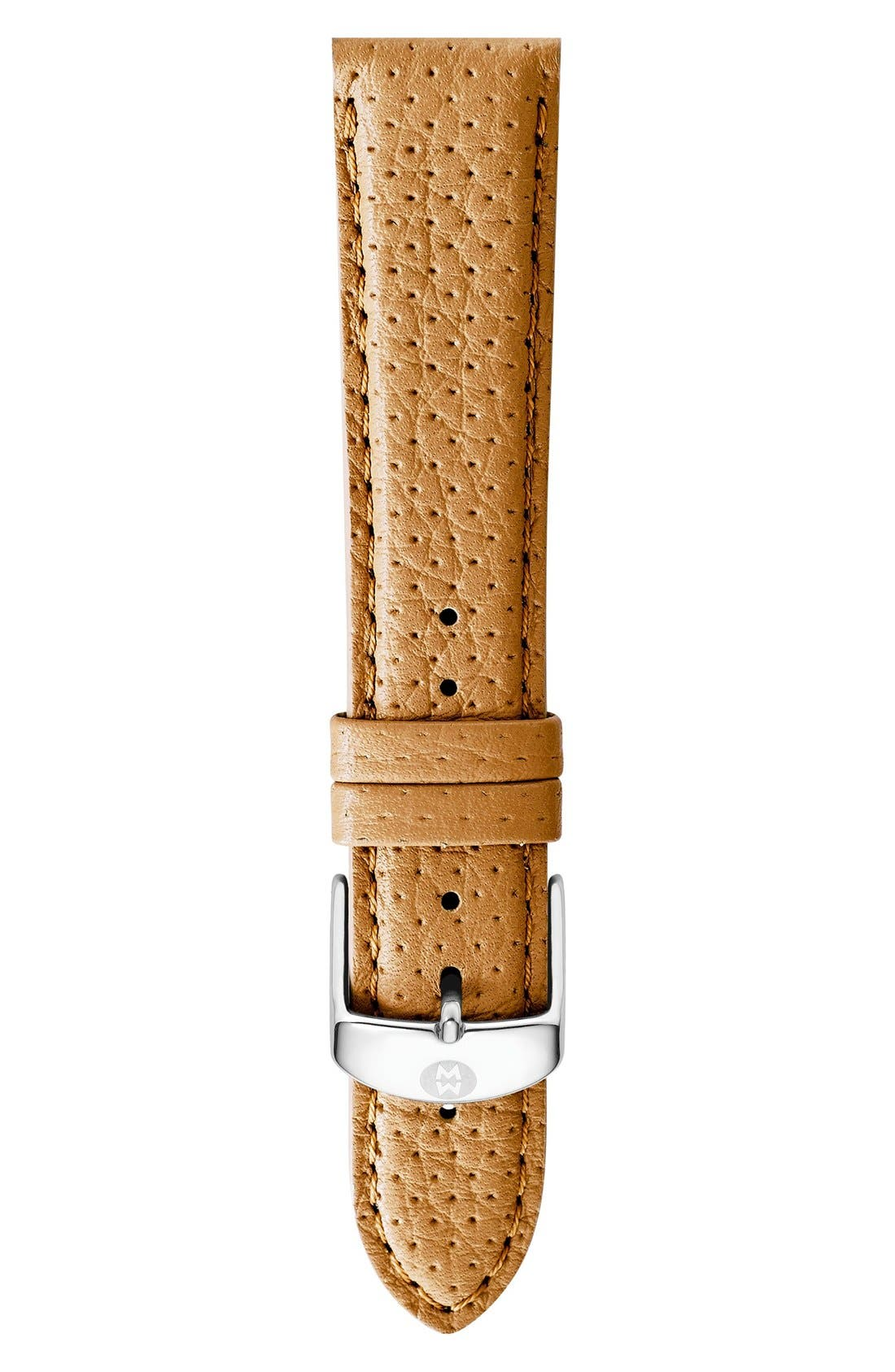 16mm Leather Watch Strap,                             Main thumbnail 8, color,
