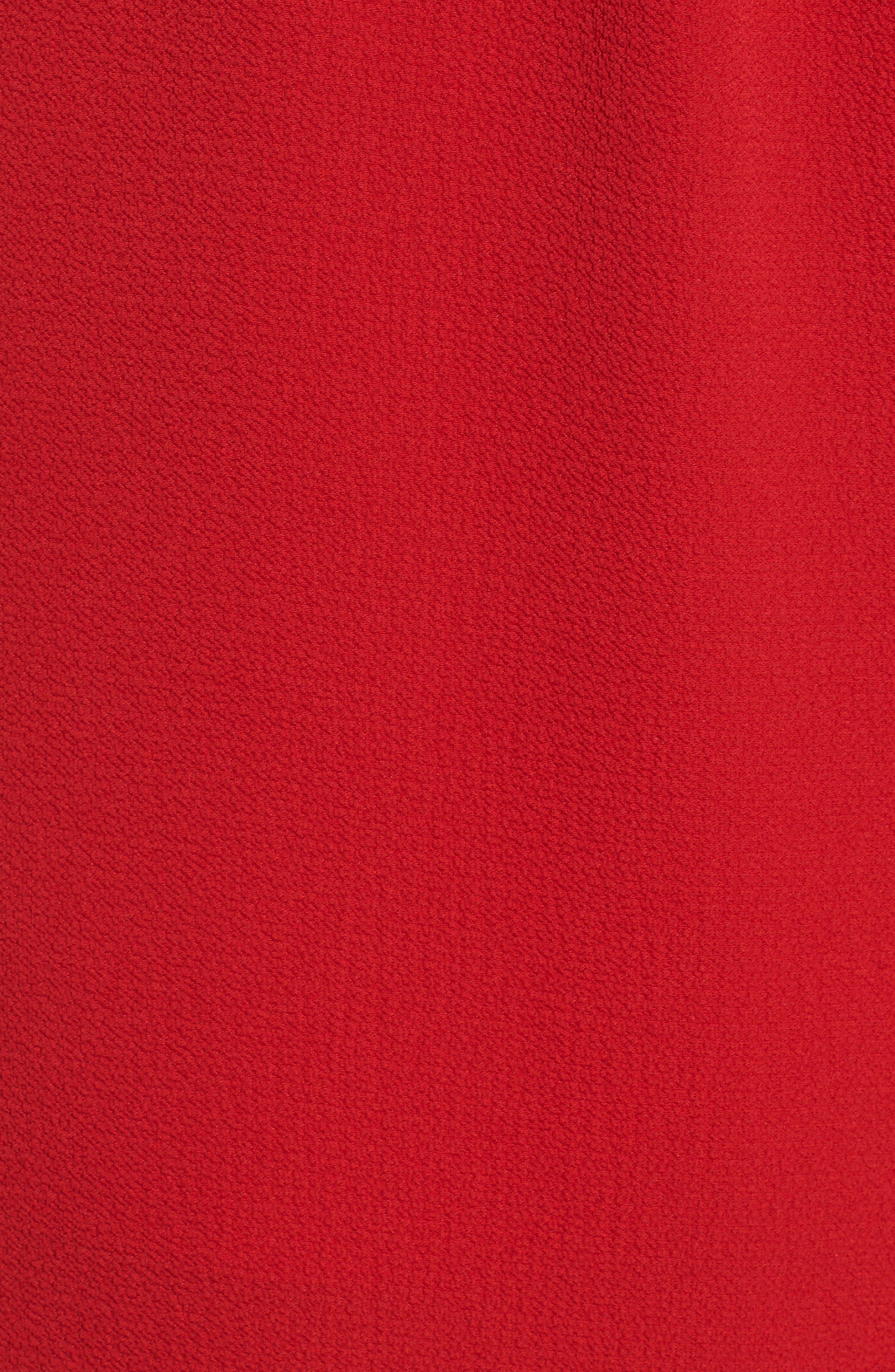 Cinch Front Crop Jumpsuit,                             Alternate thumbnail 6, color,                             RED LIPSTICK