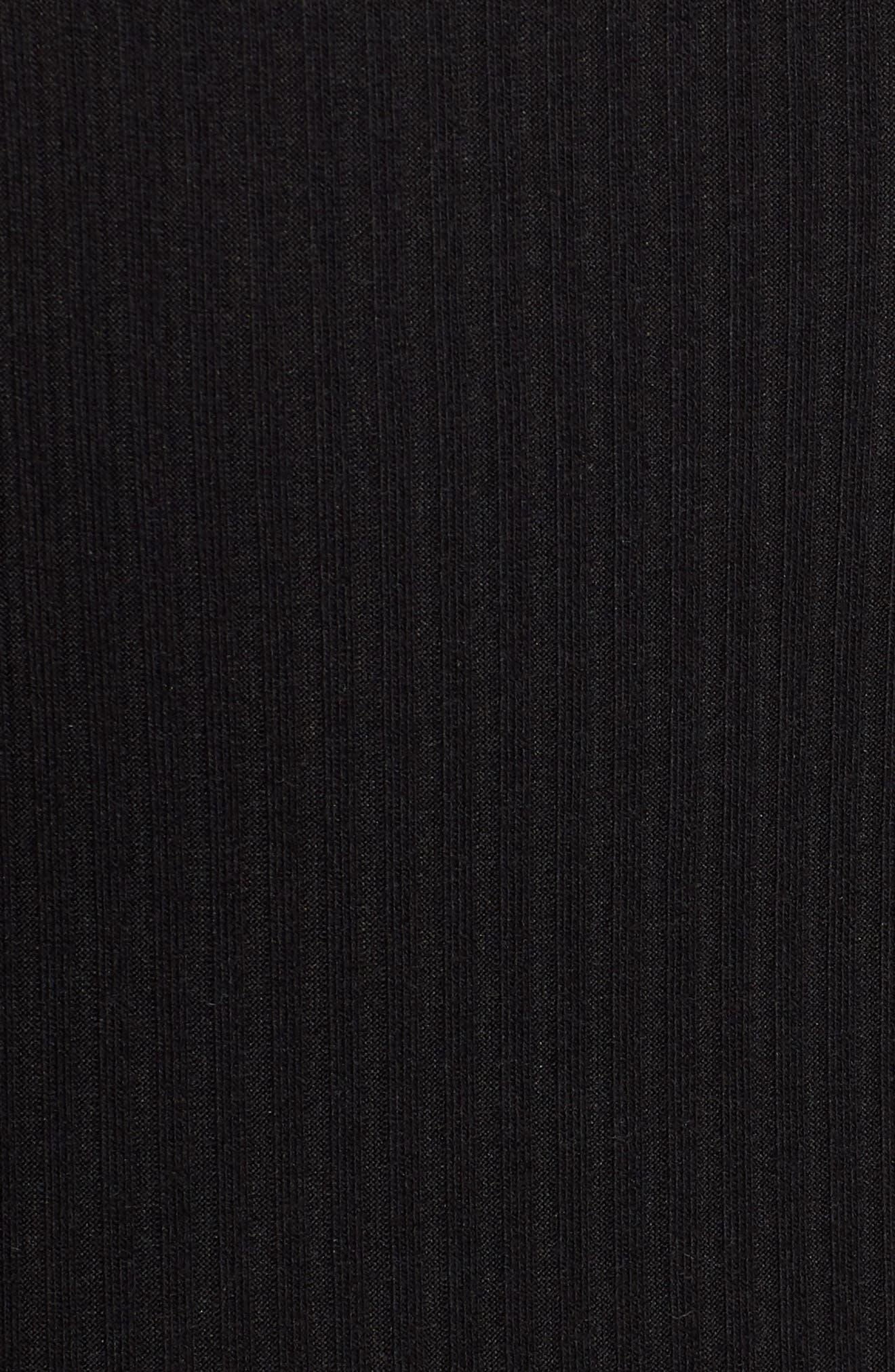 Twist Front Midi Dress,                             Alternate thumbnail 5, color,                             001