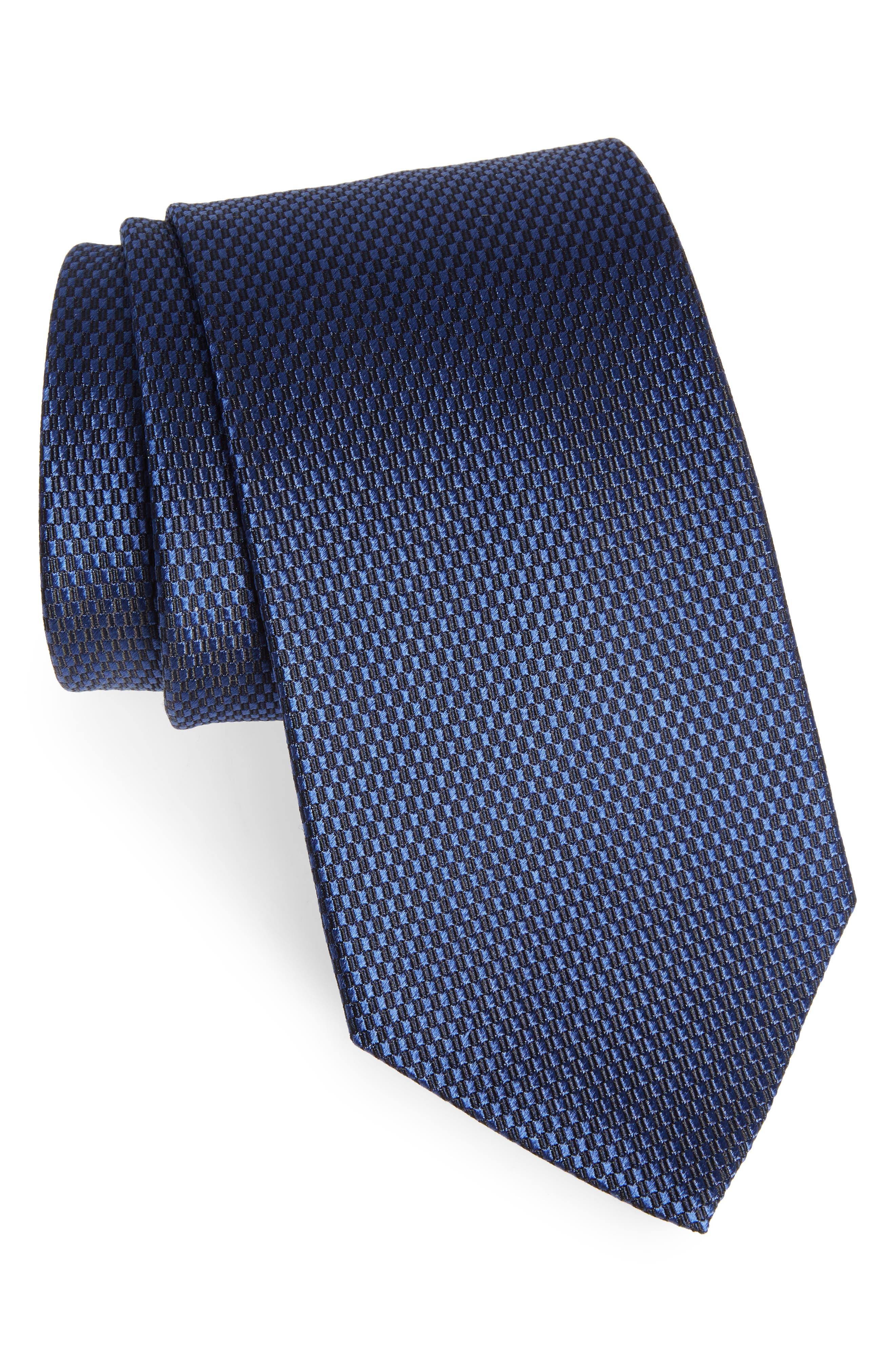 Solid Silk Tie,                         Main,                         color, 410